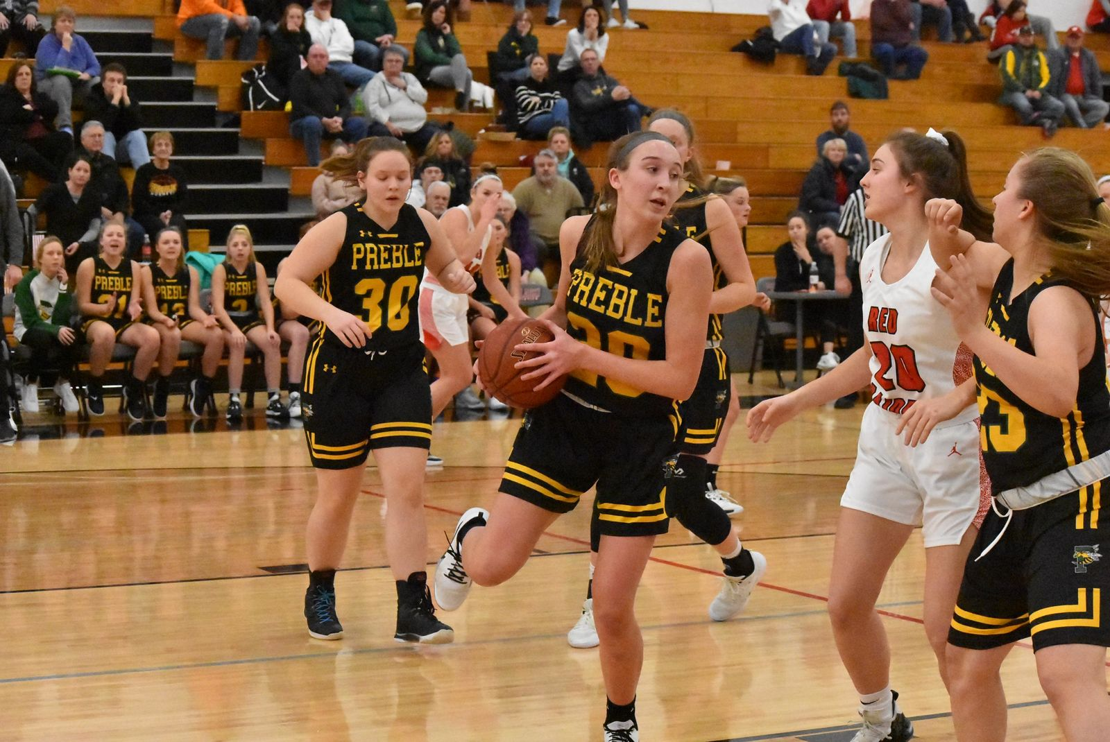 Green Bay Preble's Carley Duffney is a FOX 11 all-area first-team selection. (Doug Ritchay/WLUK)