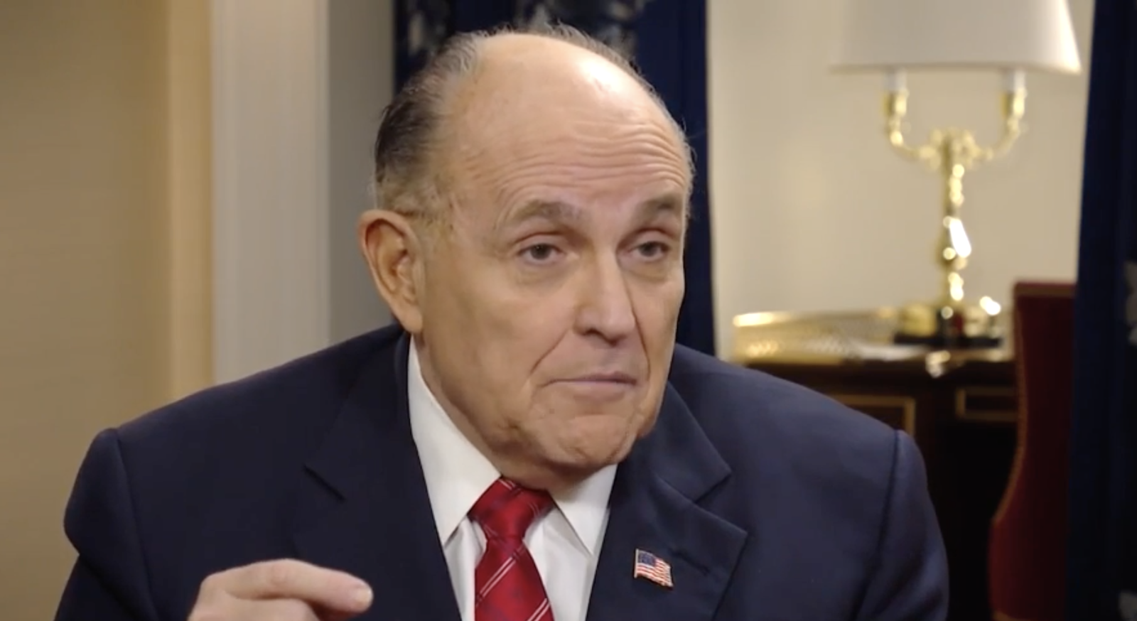Exclusive: Giuliani discusses his Ukraine investigation with Eric Bolling (Photo: Sinclair Broadcast Group)