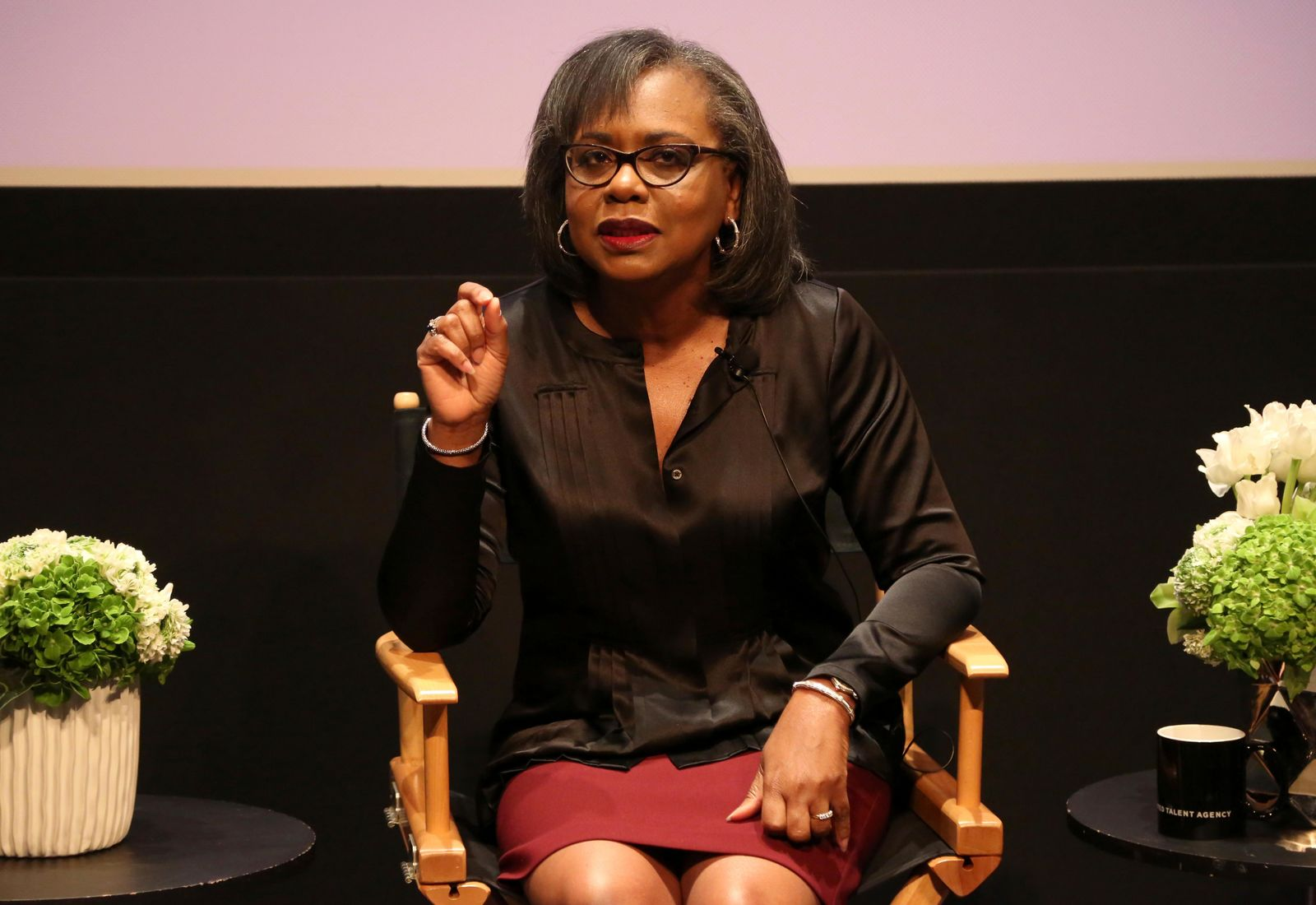 FILE - In this Dec. 8, 2017 file photo, Anita Hill speaks at a discussion about sexual harassment and how to create lasting change from the scandal roiling Hollywood at United Talent Agency in Beverly Hills, Calif. (Photo by Willy Sanjuan/Invision/AP, File)