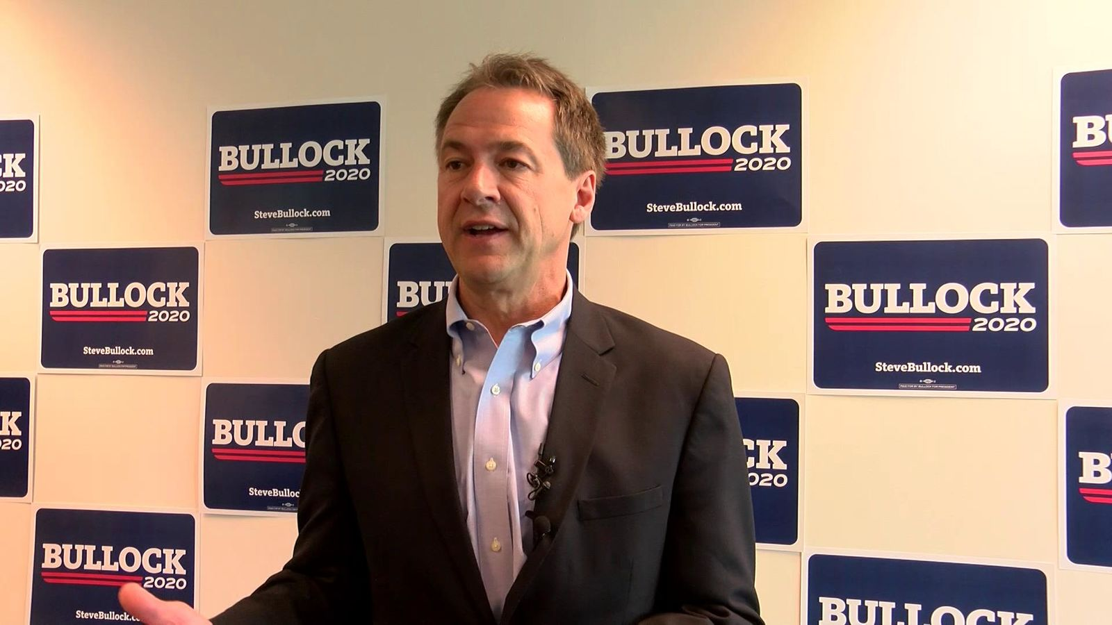 2020 hopeful Bullock gets endorsed by Iowa attorney general. Photo: NBC Montana