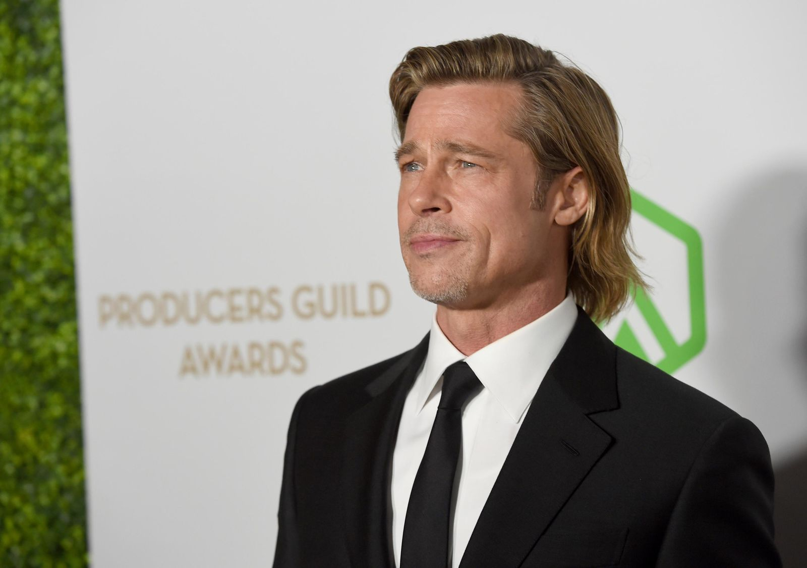 Brad Pitt arrives at the 2020 Producers Guild Awards at the Hollywood Palladium on Saturday, Jan. 18, 2020, in Los Angeles, Calif. (AP Photo/Chris Pizzello)