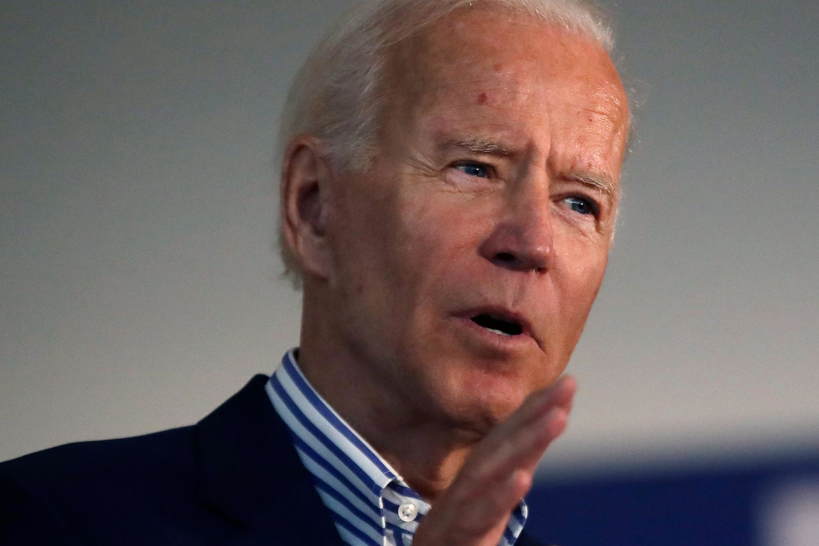Democratic presidential candidate former Vice President Joe Biden speaks during a campaign event at Dartmouth College, Friday, Aug. 23, 2019, in Hanover, N.H. (AP Photo/Elise Amendola)