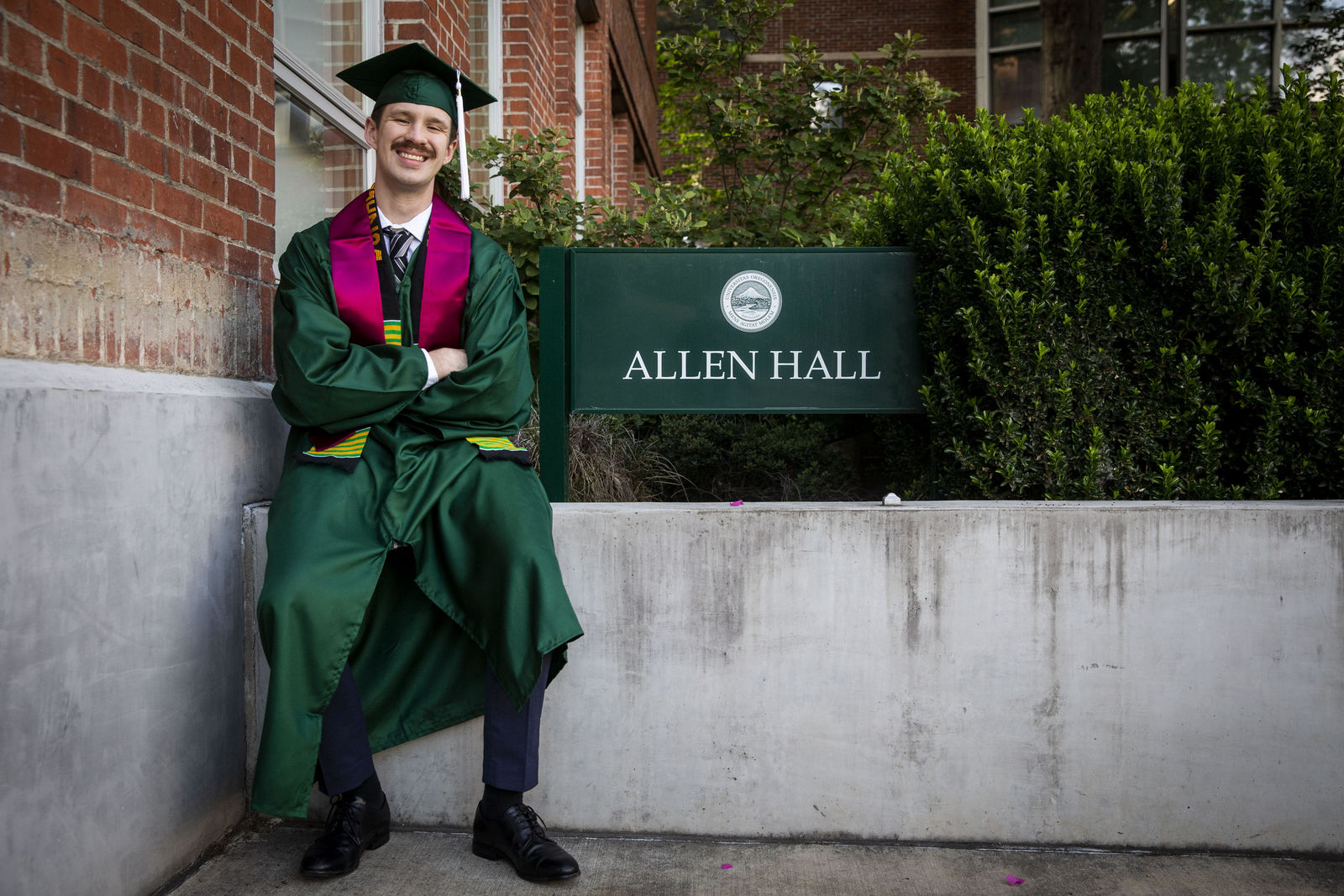 U of O student Donny Morrison graduated form the School of Journalism after battling back from addiction issues as a teen. (Photo submitted by Donny Morrison)