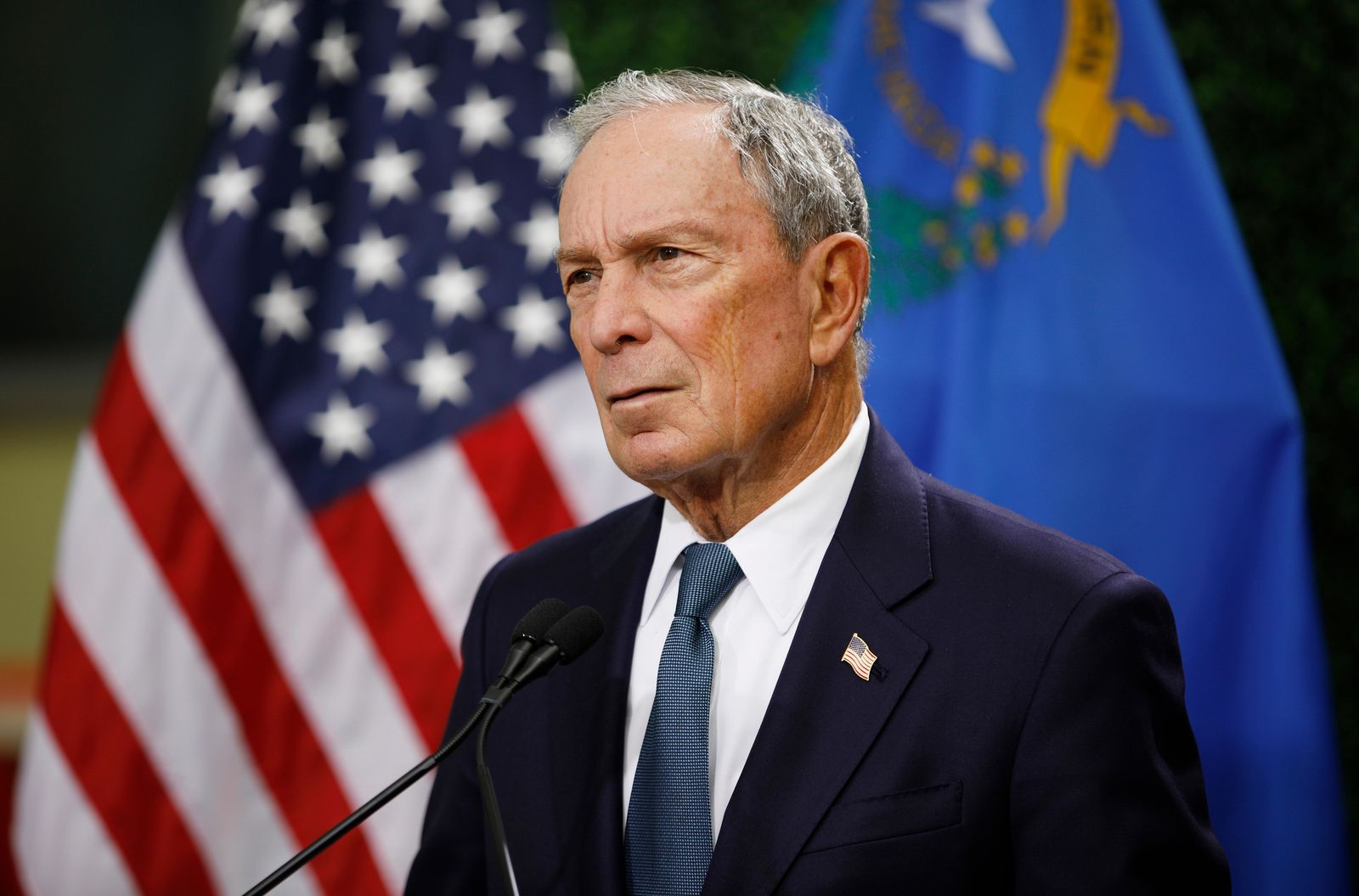 Former New York City Mayor Michael Bloomberg,{ }one of the founders, CEO, and owner of Bloomberg L.P. (AP Photo/John Locher, File)