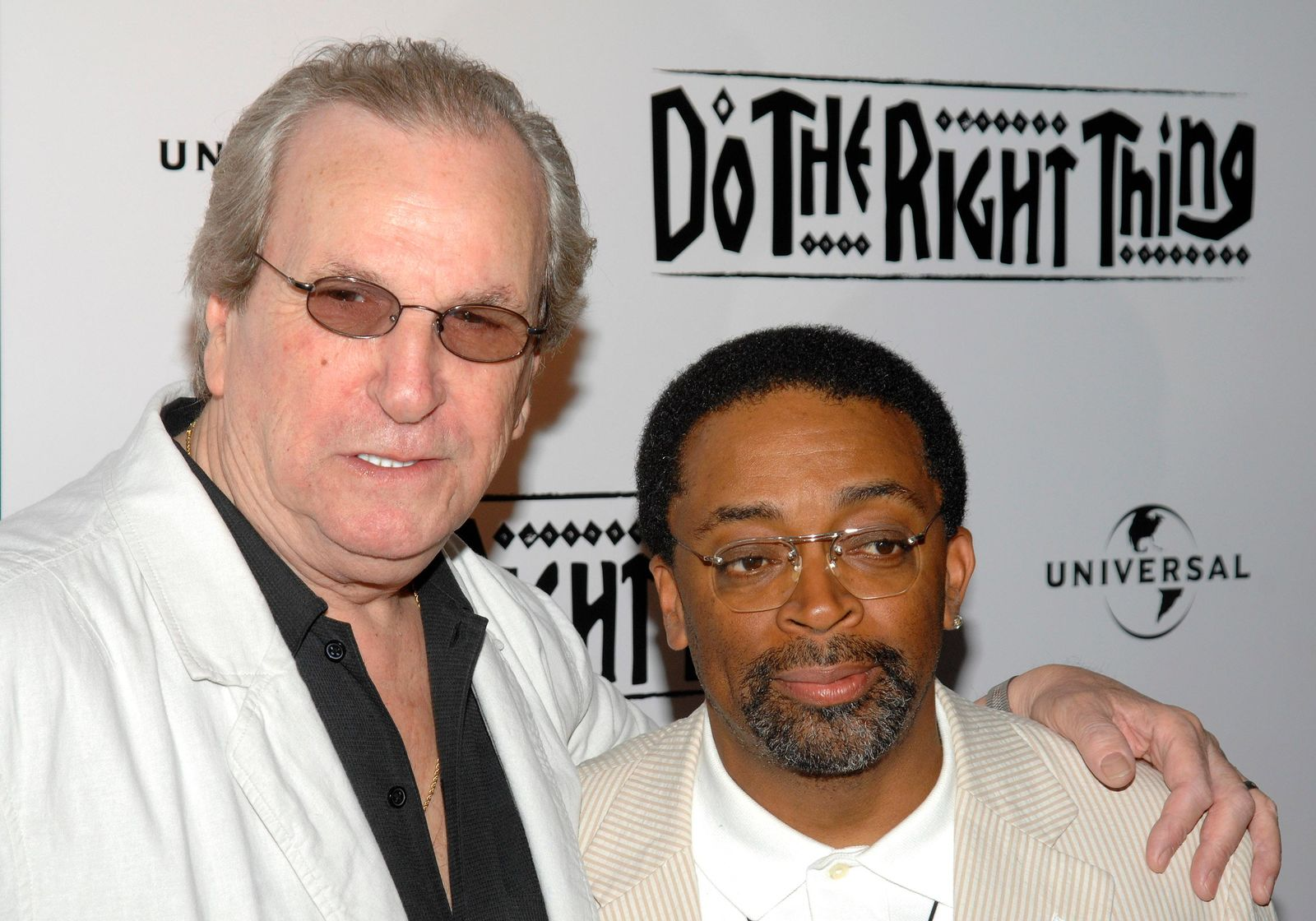 "FILE - In this June 29, 2009 file photo, Director Spike Lee, right, and actor Danny Aiello attend a special 20th anniversary screening of ""Do the Right Thing"", in New York. (AP Photo/Peter Kramer, File)"