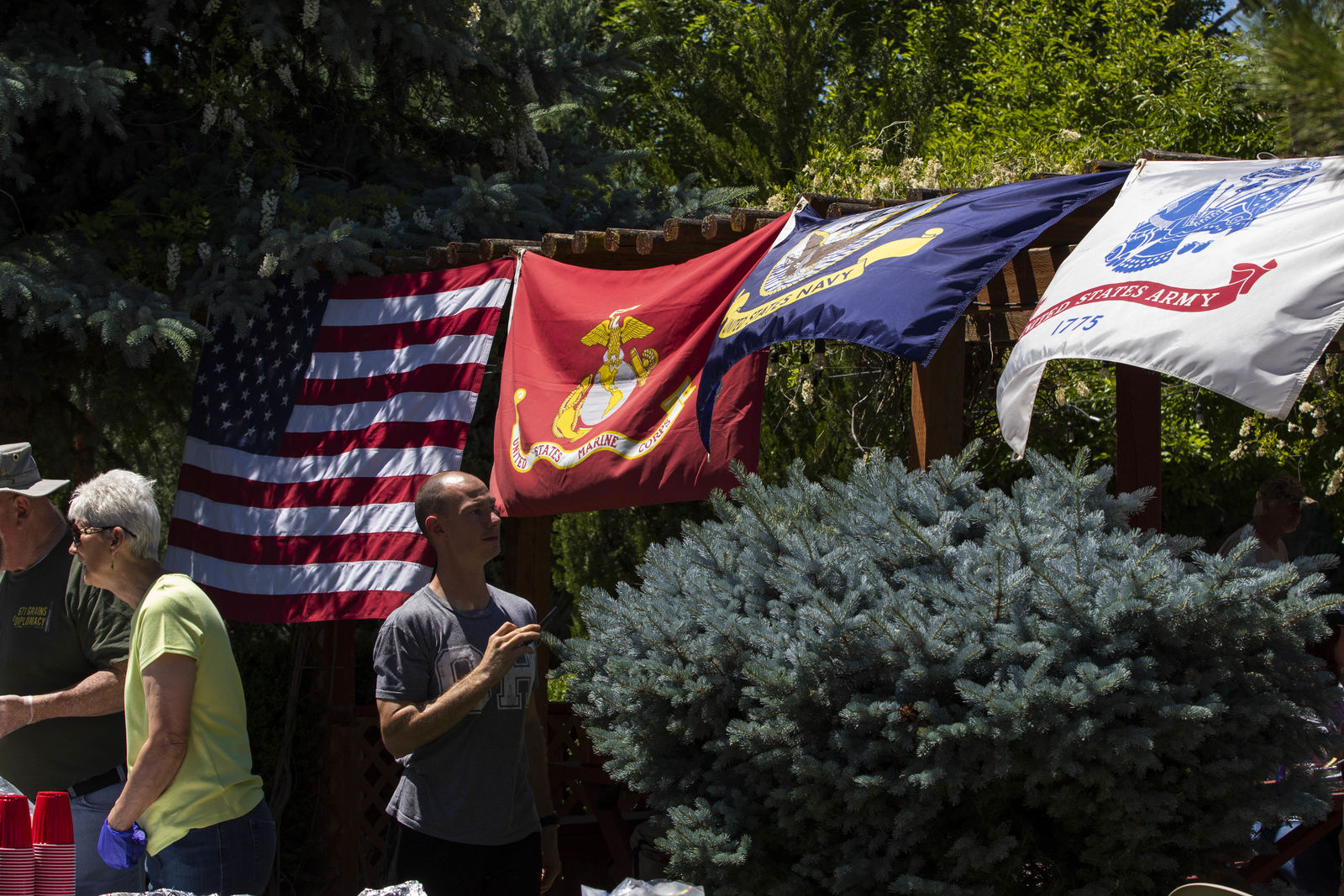 Veterans from around the Treasure Valley gathered at the Juniper Ranch in Caldwell for a day of fishing, chili, and fun. The owners of the ranch, Stan and Jeanie Meholchick, host the chili feed twice a year to give thanks to veterans. (Photos by Axel Quartarone){ }