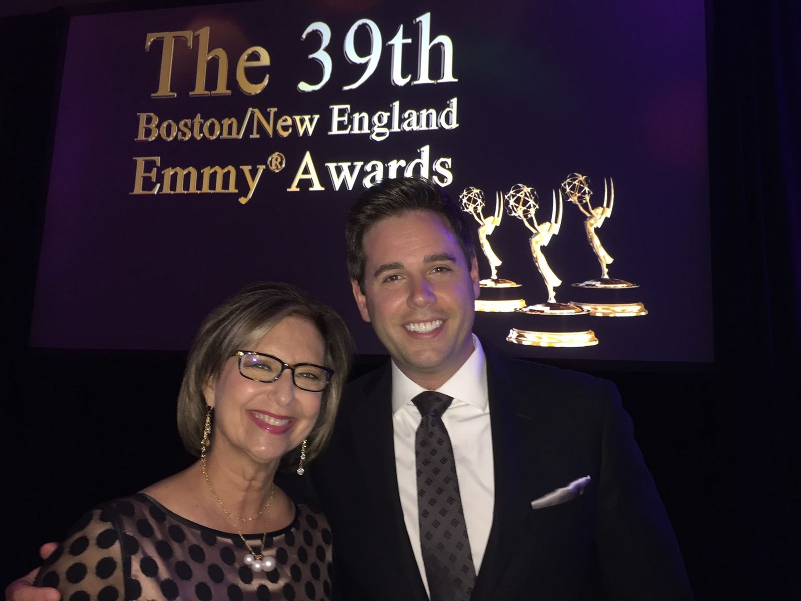 Kim Block and Jon Chrisos in 2016 (WGME)