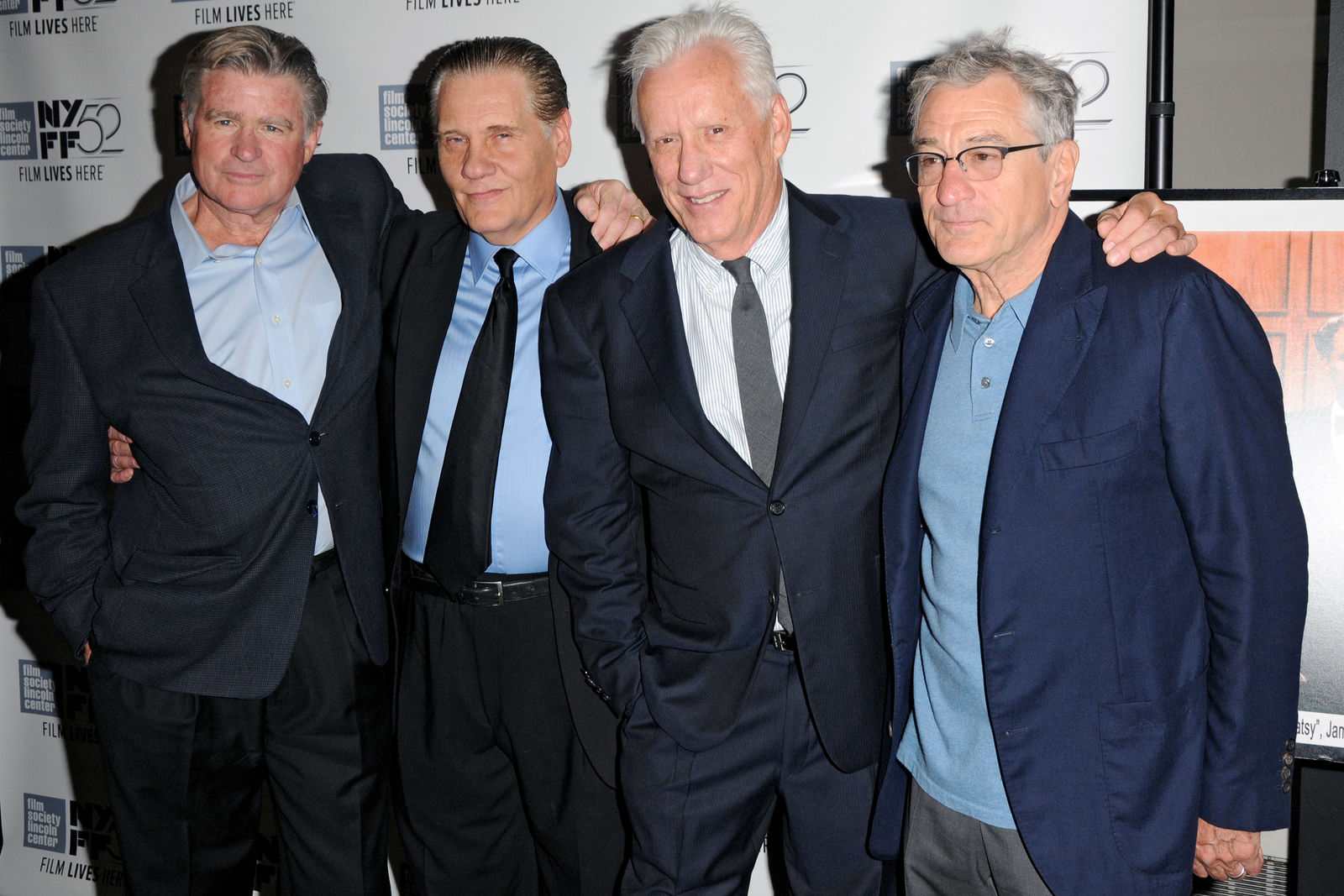 Treat Williams, William Forsythe, James Woods and Robert De Niro at the 52nd New York Film Festival for the premiere of 'Once Upon a Time in America' Extended Director's Cut Collector's Edition. (Where: Manhattan, New York. When: Sept. 27, 2014. Credit: Ivan Nikolov/WENN.com)