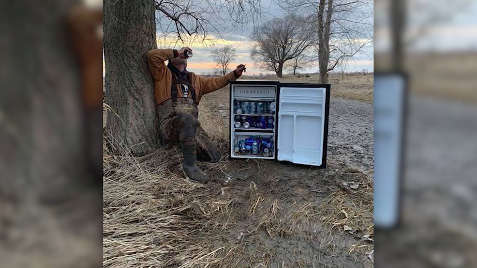 <p>Two men in Nebraska were cleaning flood damage when they came across a surprise - a fridge filled with ice-cold beer.{&nbsp;} (Courtesy: CNN Newsource){&nbsp;}</p>