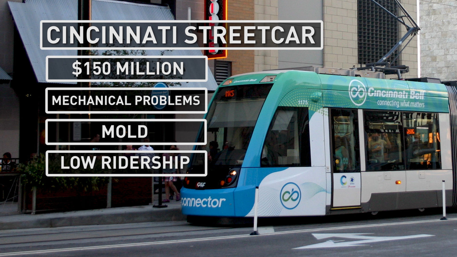 Cincinnati's streetcar system has dealt with problems including low ridership and mechanical issues (Photo: Alex Brauer, Sinclair Broadcast Group)