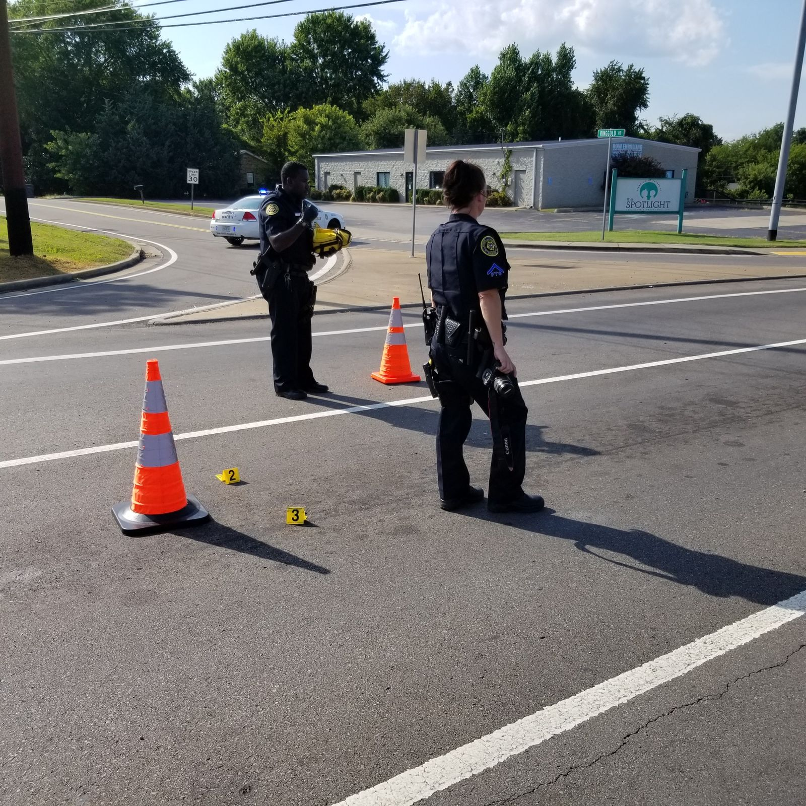 Two men shot while in moving vehicle. (Clarksville PD)