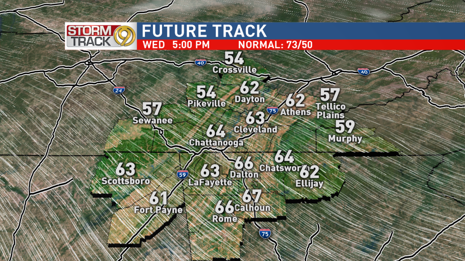Wednesday Afternoon Outlook