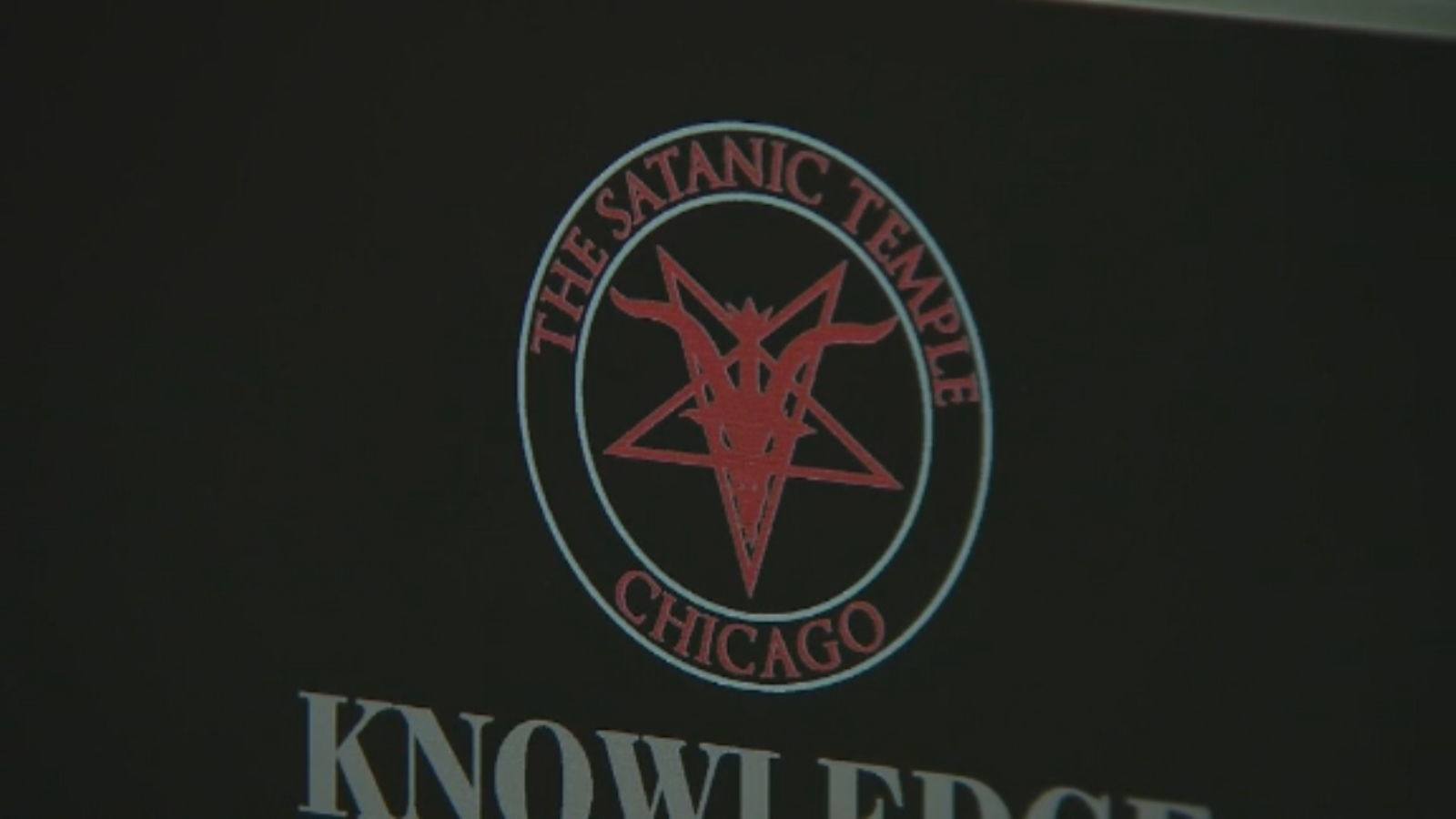 Chicago's chapter of The Satanic Temple put up its display at the state capitol.