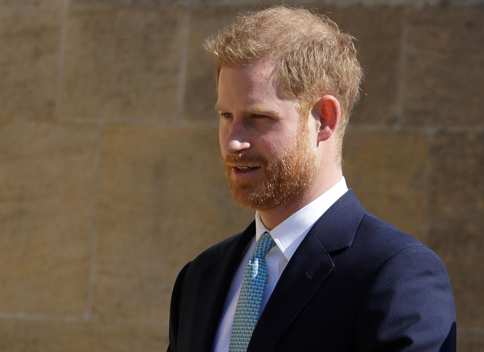 FILE - In this Sunday, April 21, 2019 file photo, Britain's Prince Harry arrives to attend the Easter Mattins Service at St. George's Chapel, at Windsor Castle in England. (AP Photo/Kirsty Wigglesworth, file)