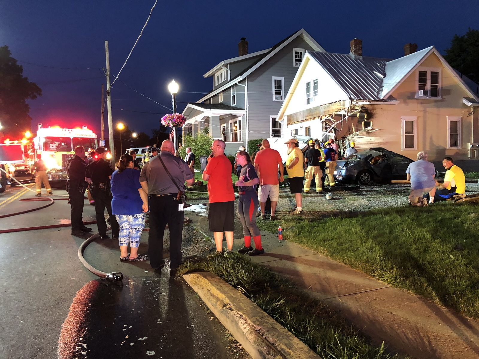 <p>A woman has been sent to the hospital after fire officials said her car crashed into a home in Delaware County. The incident happened on Saturday night on West Cherry Street in Sunbury.{&nbsp;} (WSYX/WTTE){&nbsp;}</p>
