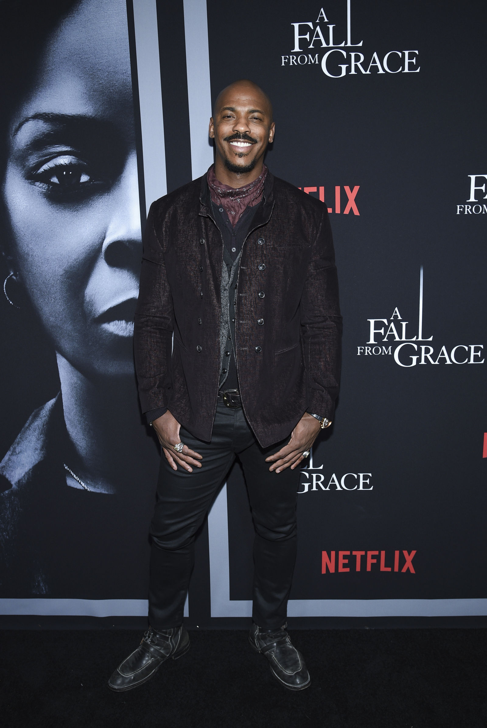 "Actor Mehcad Brooks attends the premiere of Tyler Perry's ""A Fall from Grace,"" at Metrograph, Monday, Jan. 13, 2020, in New York. (Photo by Evan Agostini/Invision/AP)"