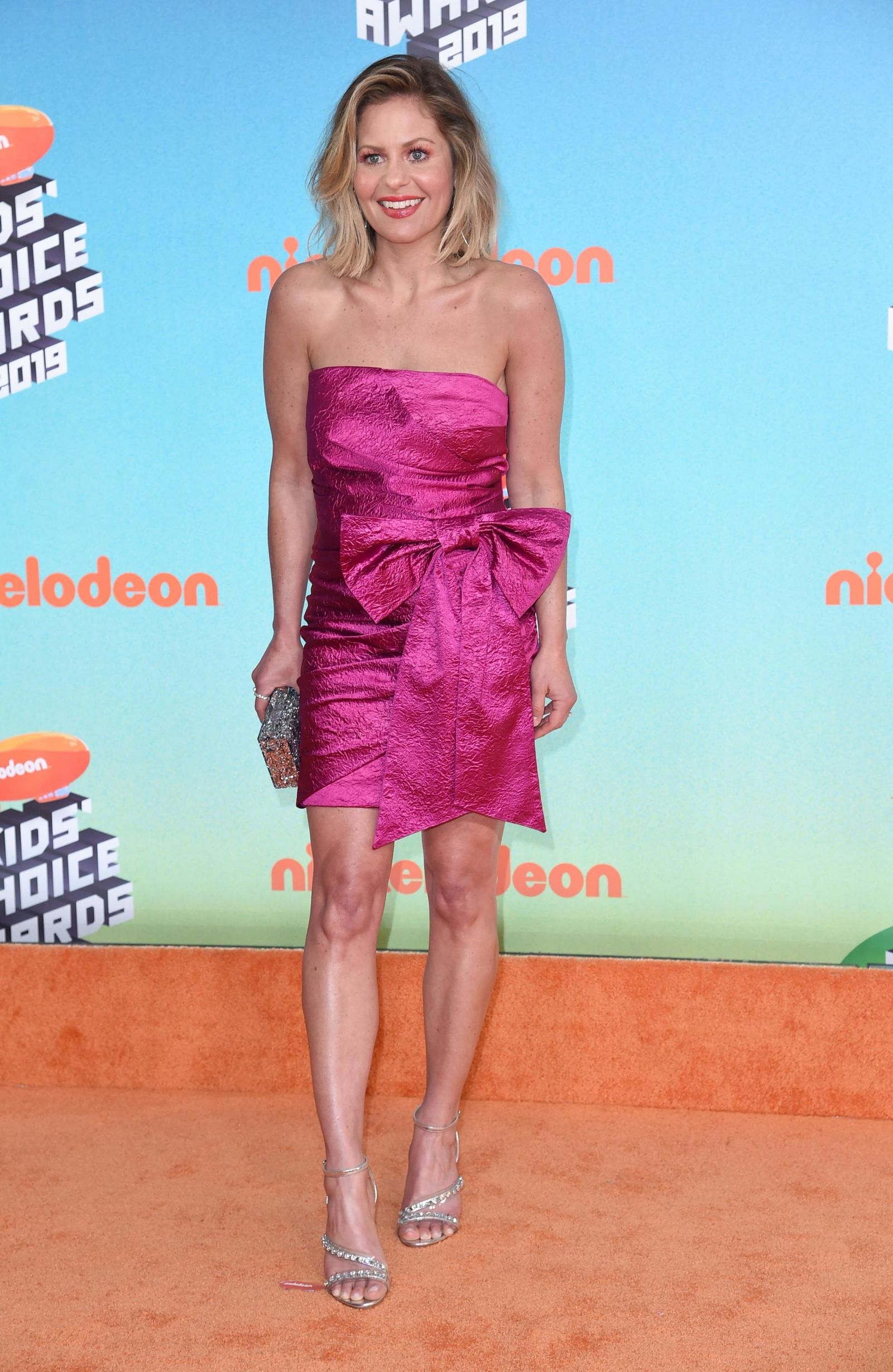 This photo taken Saturday, March 23, 2019, shows Candace Cameron-Bure arriving at the Nickelodeon Kids' Choice Awards in Los Angeles. (Photo by Richard Shotwell/Invision/AP)