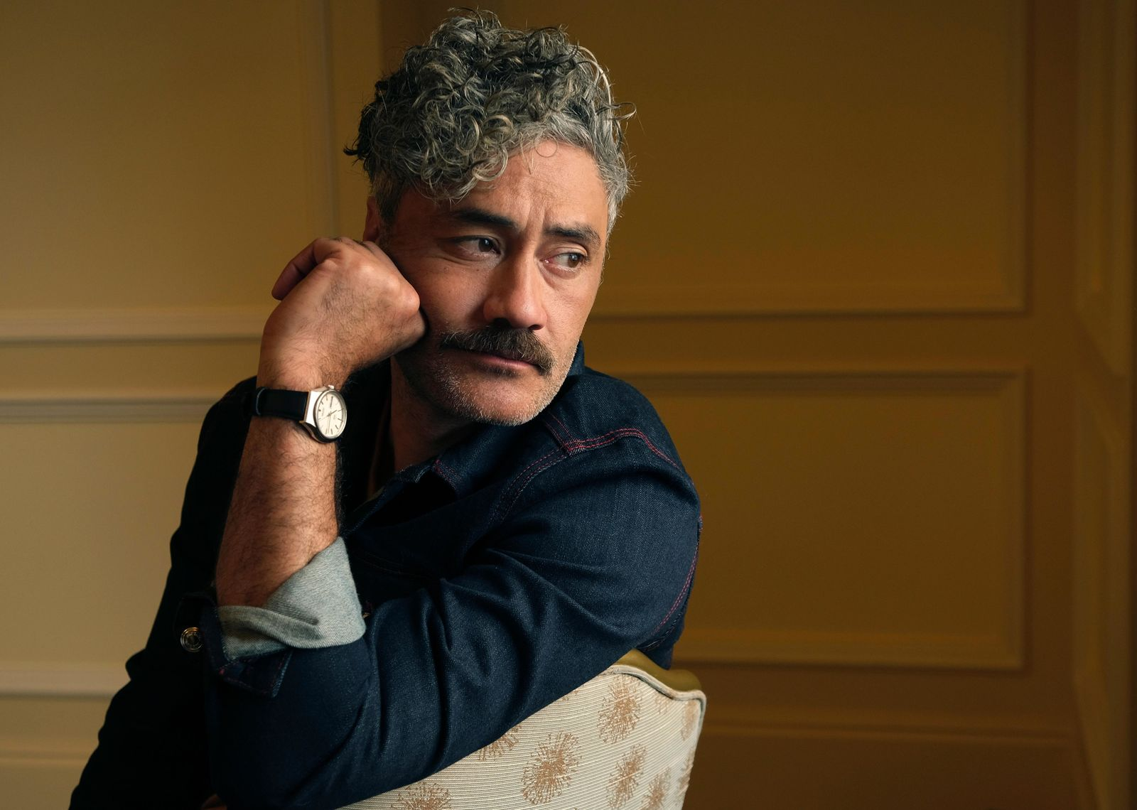"This Sept. 8, 2019 photo shows writer-director-actor Taika Waititi posing for a portrait to promote his film, ""Jojo Rabbit,"" at the Fairmont Royal York Hotel during the Toronto International Film Festival in Toronto. (Photo by Chris Pizzello/Invision/AP)"