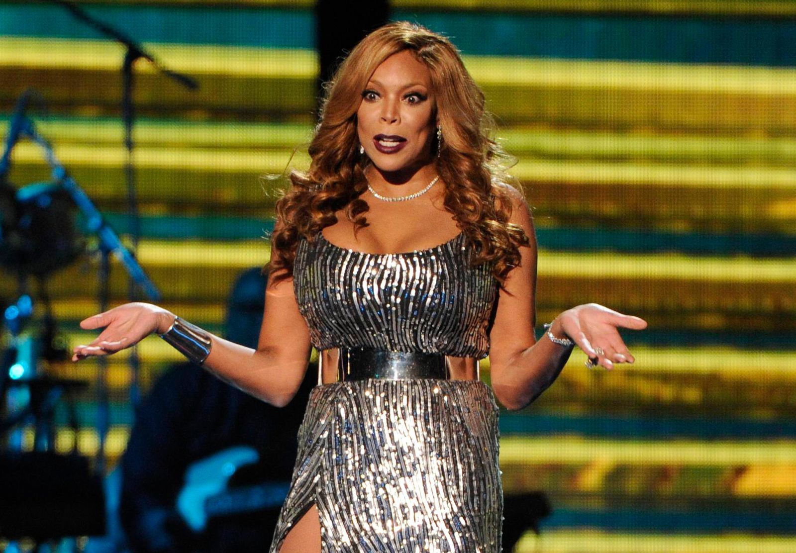 FILE - In this Nov. 7, 2014 file photo, host Wendy Williams appears at the 2014 Soul Train Awards in Las Vegas. Williams' family says she is taking an extended break from her TV talk show to deal with health issues.{ } (Photo by Chris Pizzello/Invision/AP, File)