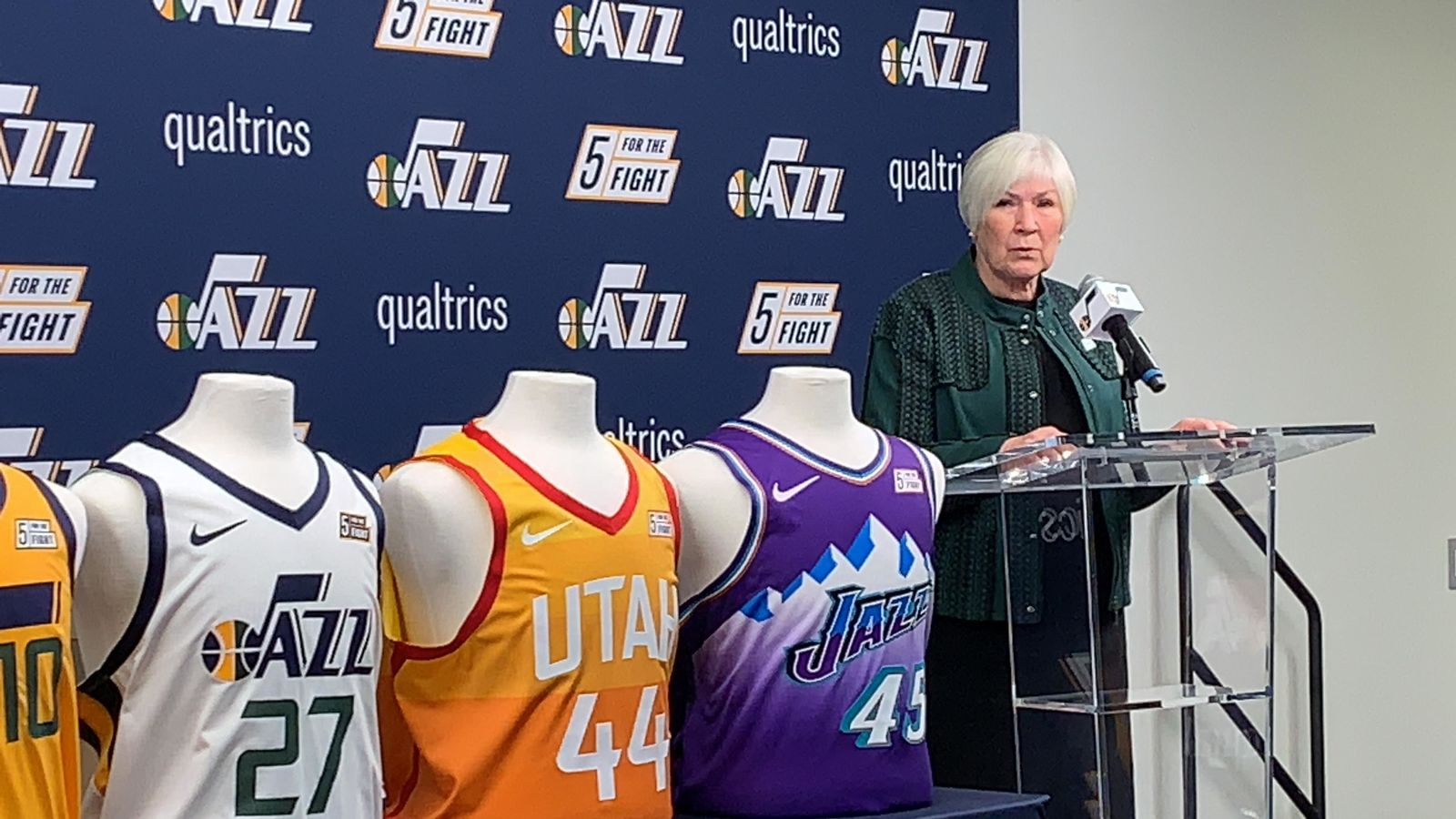 Gail Miller speaks at a press conference on Monday, October 21, 2019. (Photo: Adam Forgie, KUTV)
