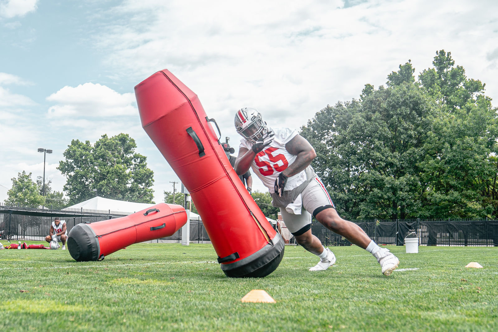 Ohio State football practice on August 6, 2020. (Courtesy: The Ohio State Department of Athletics)