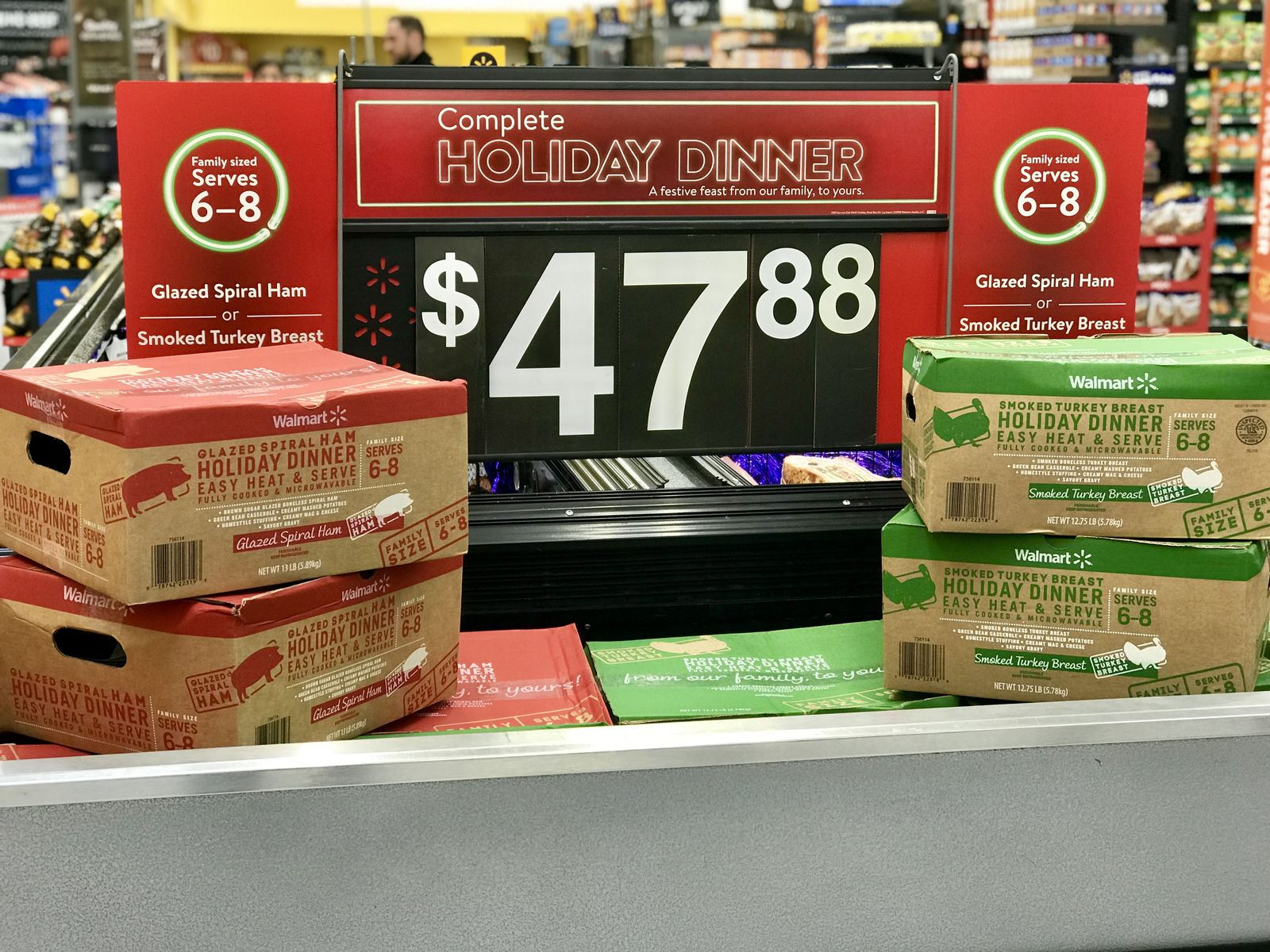 "Walmart starts selling ""Thanksgiving Holiday Dinner"" kits for about $50 (Walmart)"