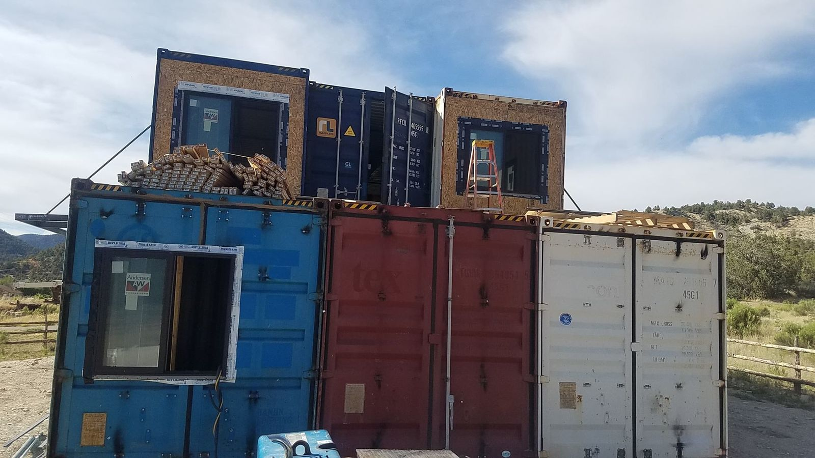 "A Utah couple wanted to do something ""daring and out of the ordinary."" So, one year ago, they decided to build a house made out of shipping containers in their own backyard in Kane County. (Photo courtesy of Jarad and Kristy Brinkerhoff)"