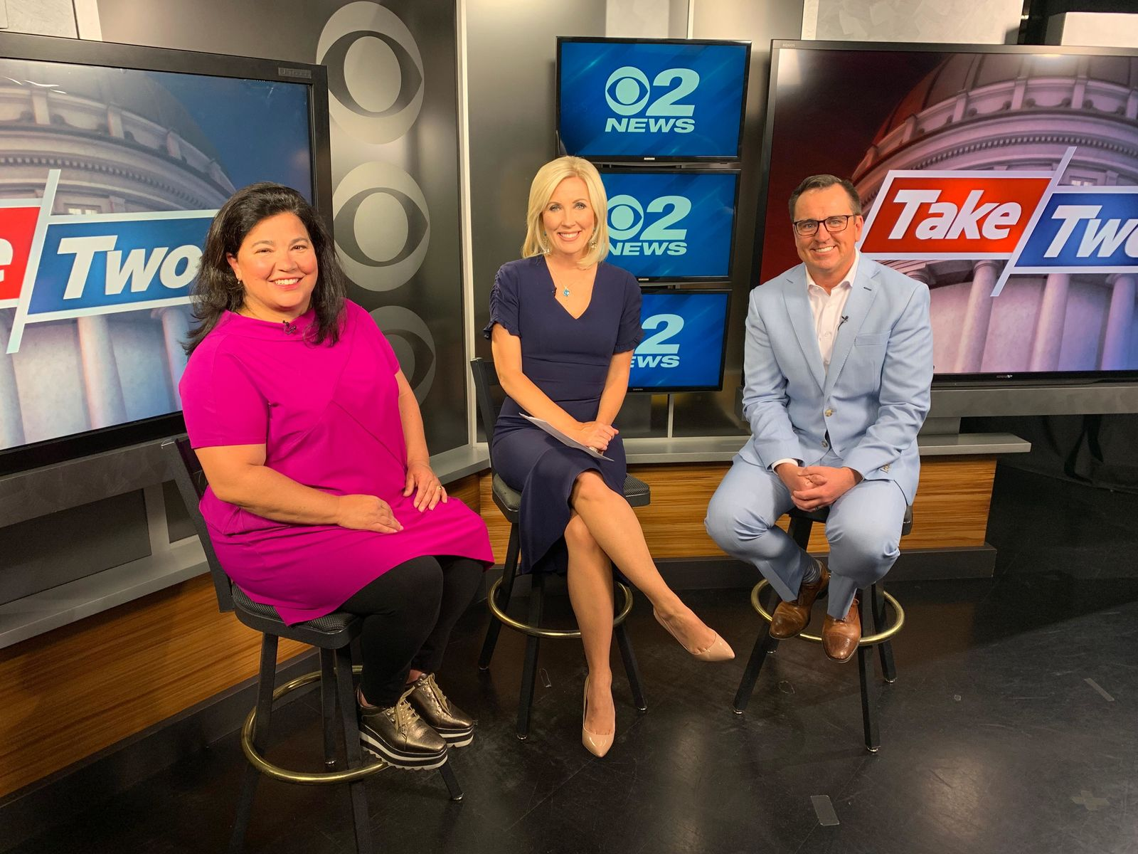 Episode 18 of the Take 2 podcast featured 2News Anchor/Reporter Heidi Hatch hosting former Speaker of the House Greg Hughes (R) and guest Maura Carabello of The Exoro Group. (Photo: KUTV)<p></p>