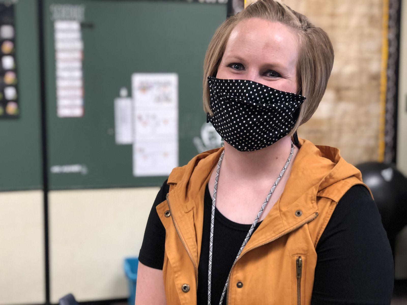 """It gives me goosebumps, we're finally open and kids are here. Masks or no masks it's going to be a good year.""Danielle Dudo of Newell Elementary in Grand Island said she was more than ready to welcome kids back. (NTV News)"