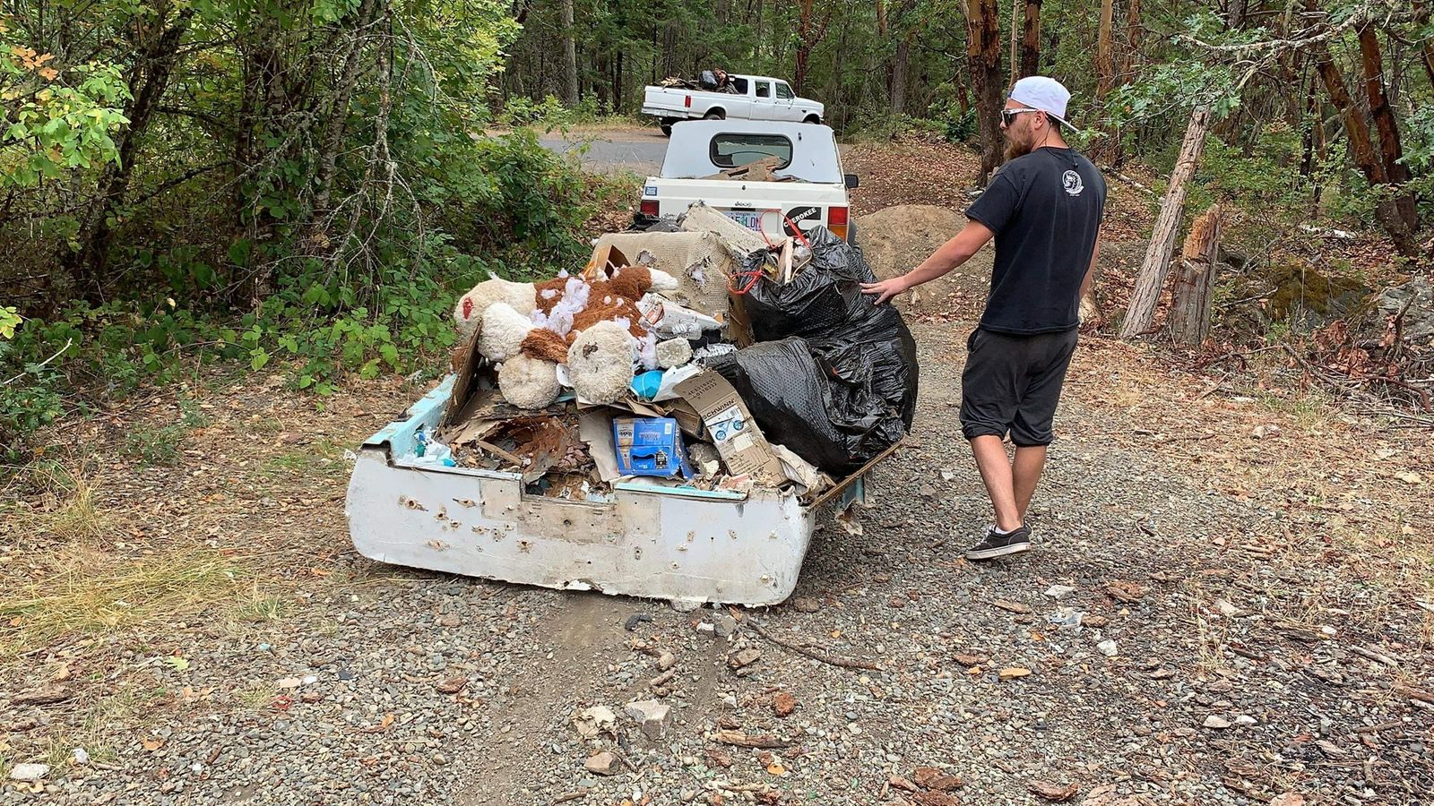 A load of garbage that Oregon Border Patrol pulled out of the forest last weekend. (Courtesy: Sam Watson){&nbsp;}<p></p>