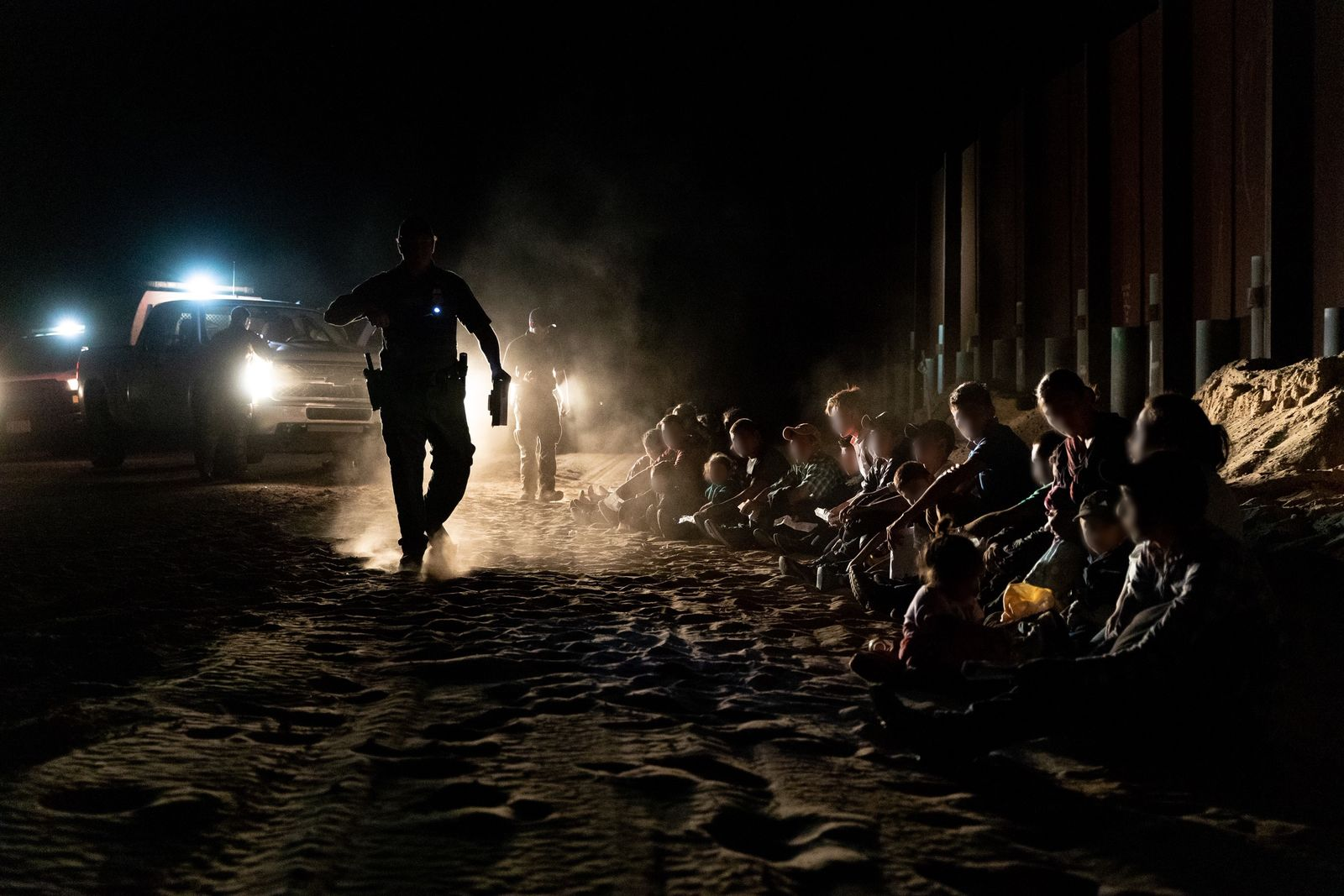 Large groups of illegal aliens were apprehended by Yuma Sector Border Patrol agents near Yuma, AZ on June 4, 2019. The Yuma Sector continues to see a large number of Central Americans per day crossing illegally and surrendering to agents. (CBP photo by Jerry Glaser)