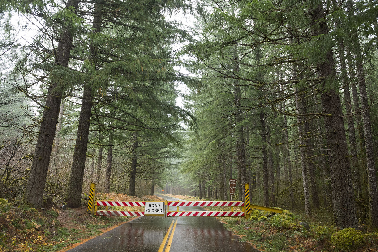 The Old McKenzie Pass Highway closed to all traffic for the winter November 12, 2019. It is scheduled to reopen to car traffic June 15, 2020 - weather permitting. (Greg Westergaard, ODOT CC by 2.0)