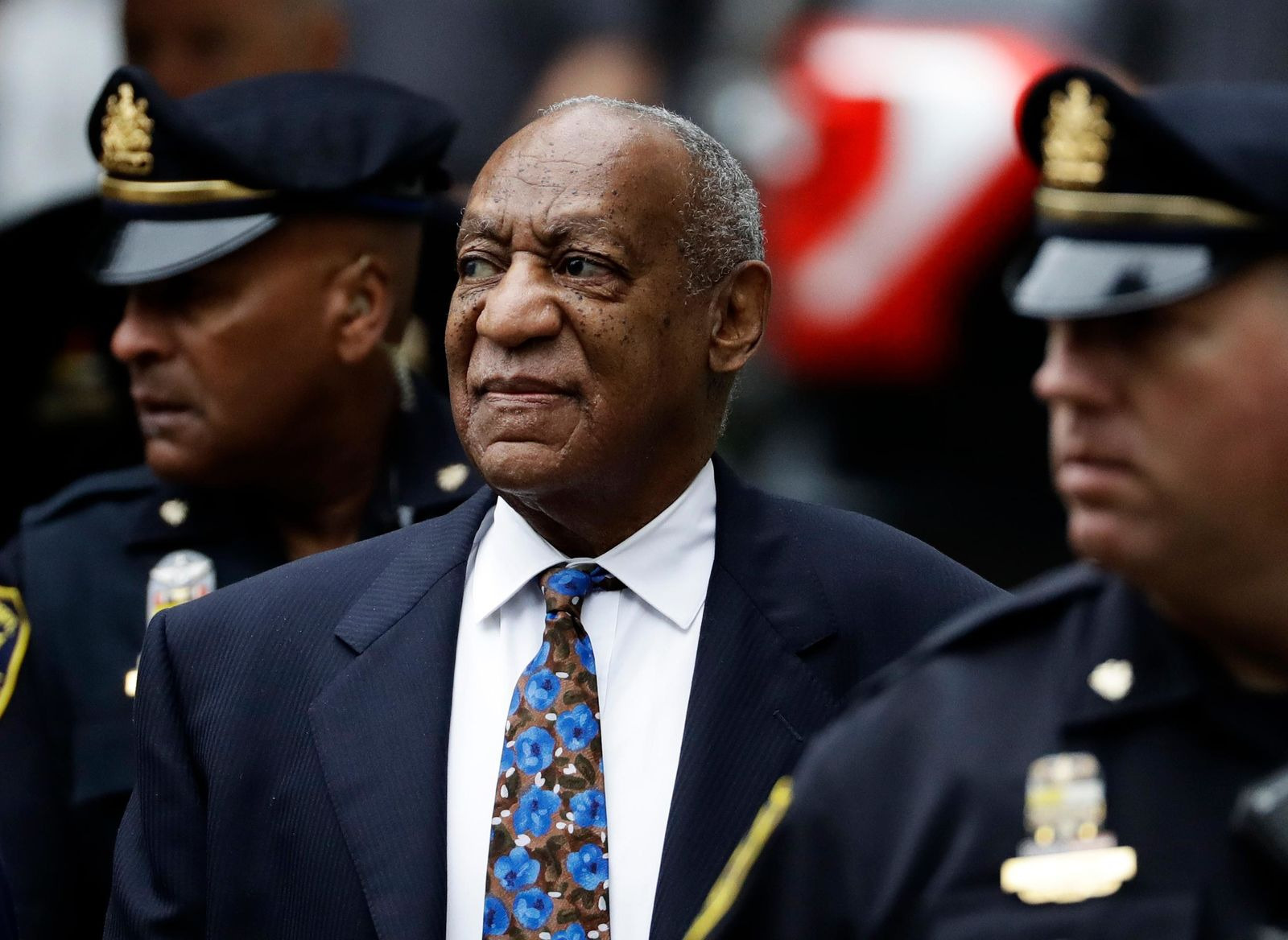 FILE - In this, Sept. 24, 2018 file photo Bill Cosby arrives for his sentencing hearing at the Montgomery County Courthouse, , in Norristown, Pa. (AP Photo/Matt Slocum, File)