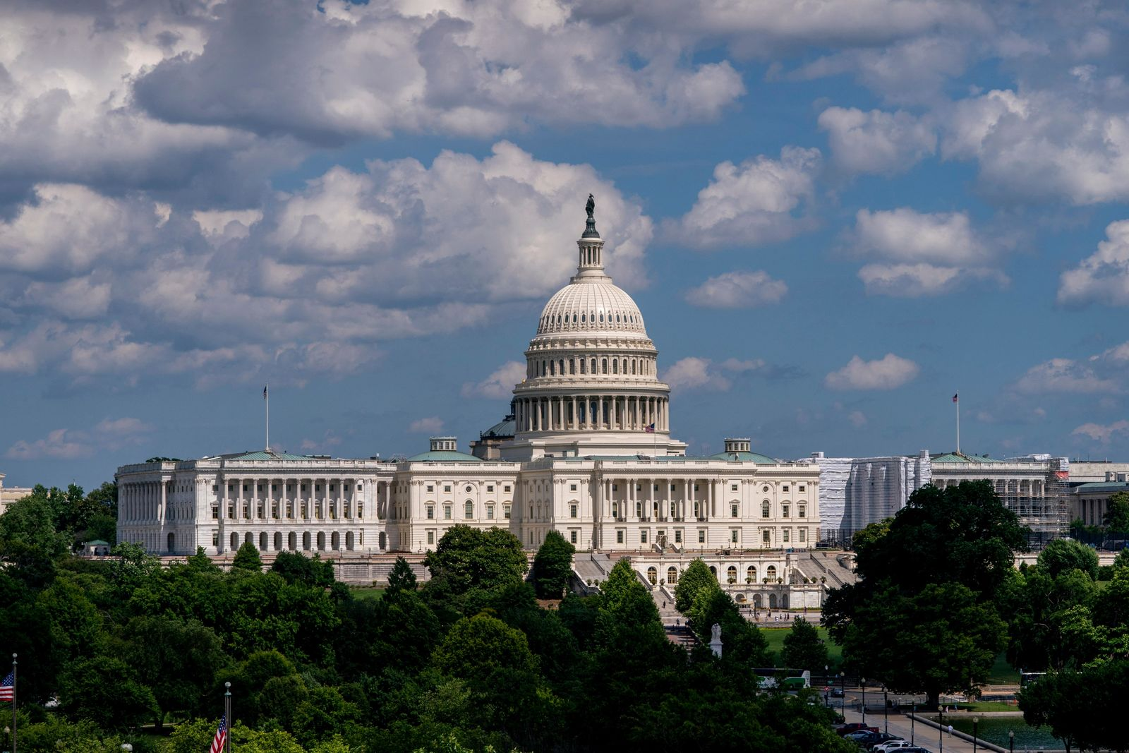 "FILE - In this June 20, 2019, file photo, the Capitol is seen from the roof of the Canadian Embassy in Washington. "" (AP Photo/J. Scott Applewhite, File)"