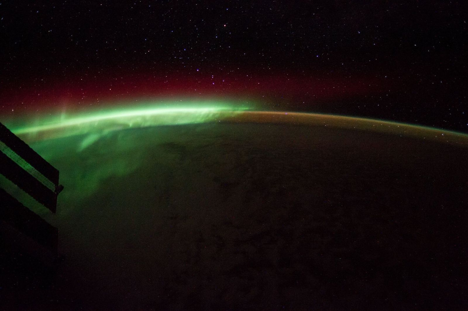 Celebrating #StPatricksDay watching the aurora from @Space_Station this year! (Photo & Caption Nick Hague, NASA)