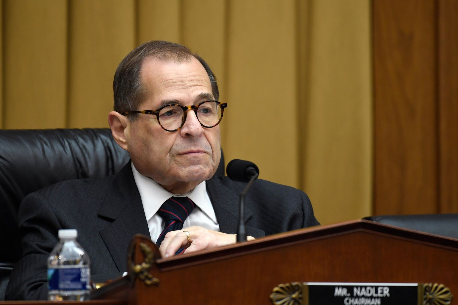 House Judiciary Committee Chairman Jerrold Nadler, D-N.Y., listens during a hearing on Capitol Hill in Washington, Tuesday, Oct. 22, 2019, on election security. (AP Photo/Susan Walsh)
