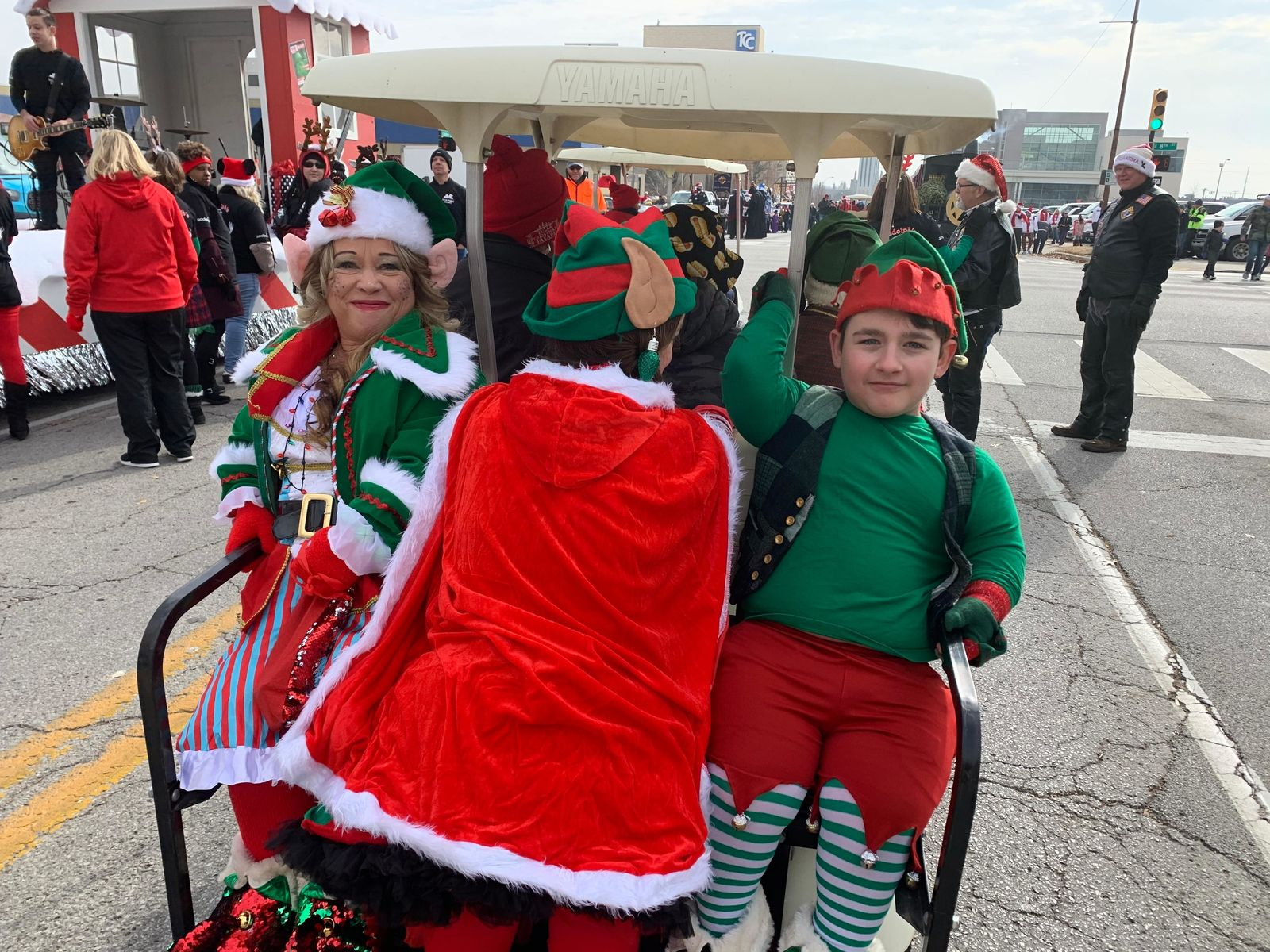Channel 8 crew having a great time at the 93rd Annual Tulsa Christmas Parade Saturday, Dec. 14, 2019. (KTUL photo)