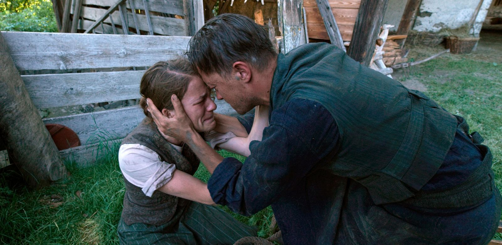 "This image released by Fox Searchlight Pictures shows Valerie Pachner, left, and August Diehl in a scene from the film ""A Hidden Life."" (Fox Searchlight Pictures via AP)"