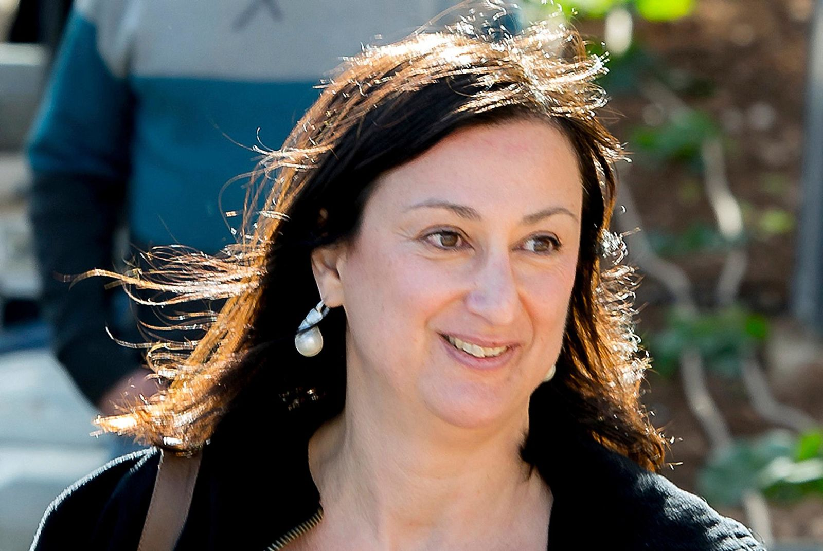 FILE - This April 4, 2016 file photo shows Maltese investigative journalist Daphne Caruana Galizia, who was killed by a car bomb in Malta on Oct. 16, 2017. (AP Photo/Jon Borg, File)