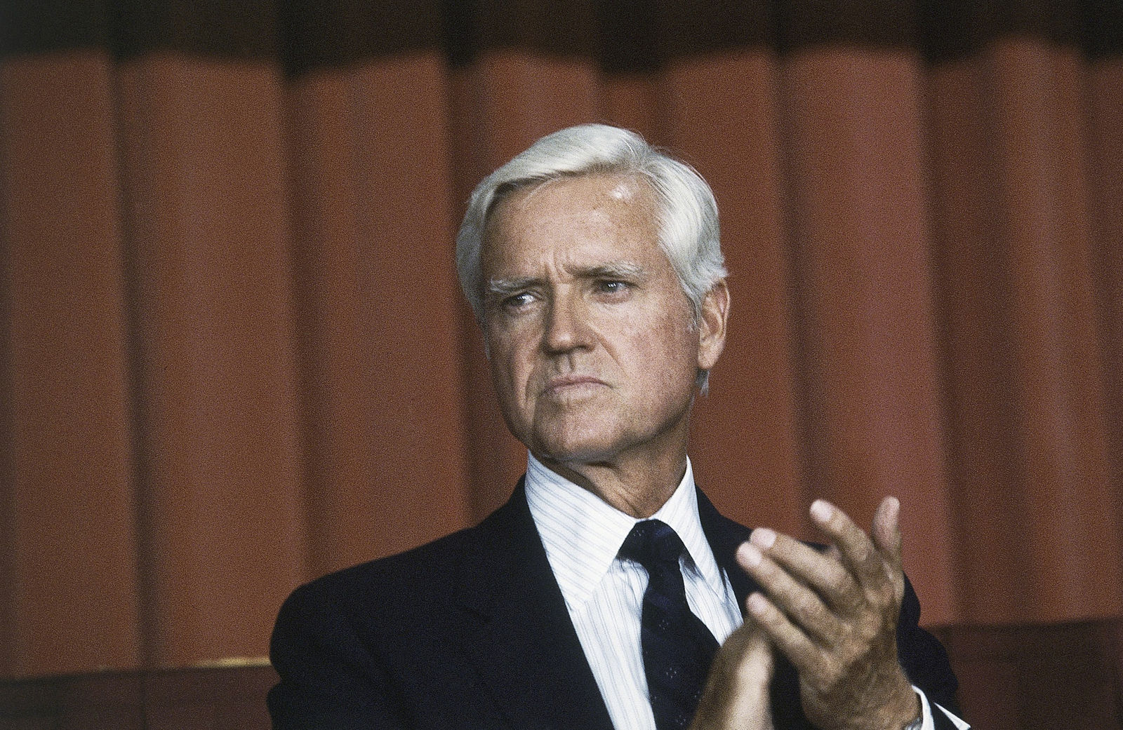 FILE - This July 20, 1983 file photo shows Senator Ernest F. Hollings (D-S.C.) in Washingrton D. C. Hollings, a moderate six-term Democrat who made an unsuccessful bid for the presidency in 1984, has died. (AP Photo, File)
