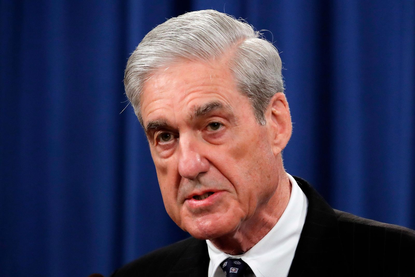 FILE - In this May 29, 2019, file photo, Special counsel Robert Mueller speaks at the Department of Justice in Washington, about the Russia investigation.{ } (AP Photo/Carolyn Kaster, File)