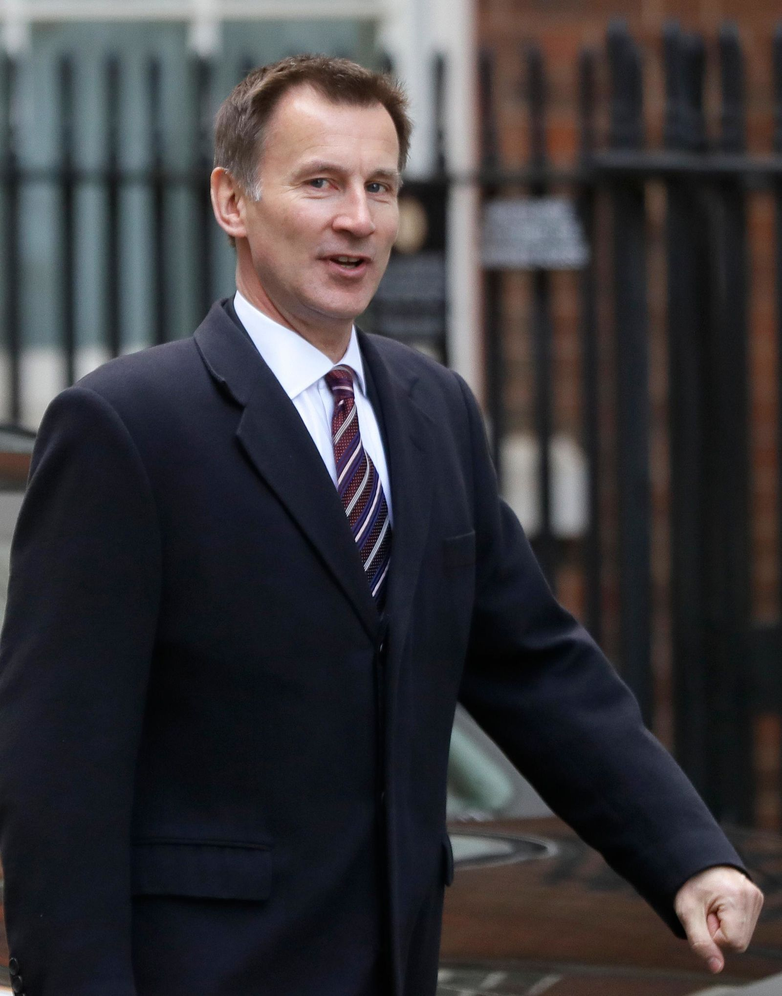 Britain's Foreign Secretary Jeremy Hunt arrives for a Cabinet meeting at Downing Street in London, Monday, March 25, 2019. (AP Photo/Kirsty Wigglesworth)
