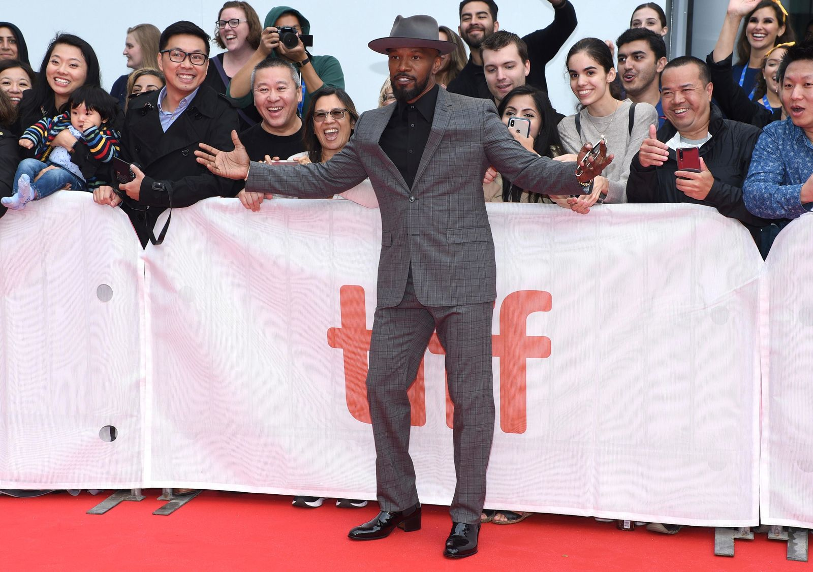 "Jamie Foxx attends the premiere for ""Just Mercy"" on day two of the Toronto International Film Festival at the Roy Thomson Hall on Friday, Sept. 6, 2019, in Toronto. (Photo by Chris Pizzello/Invision/AP)"