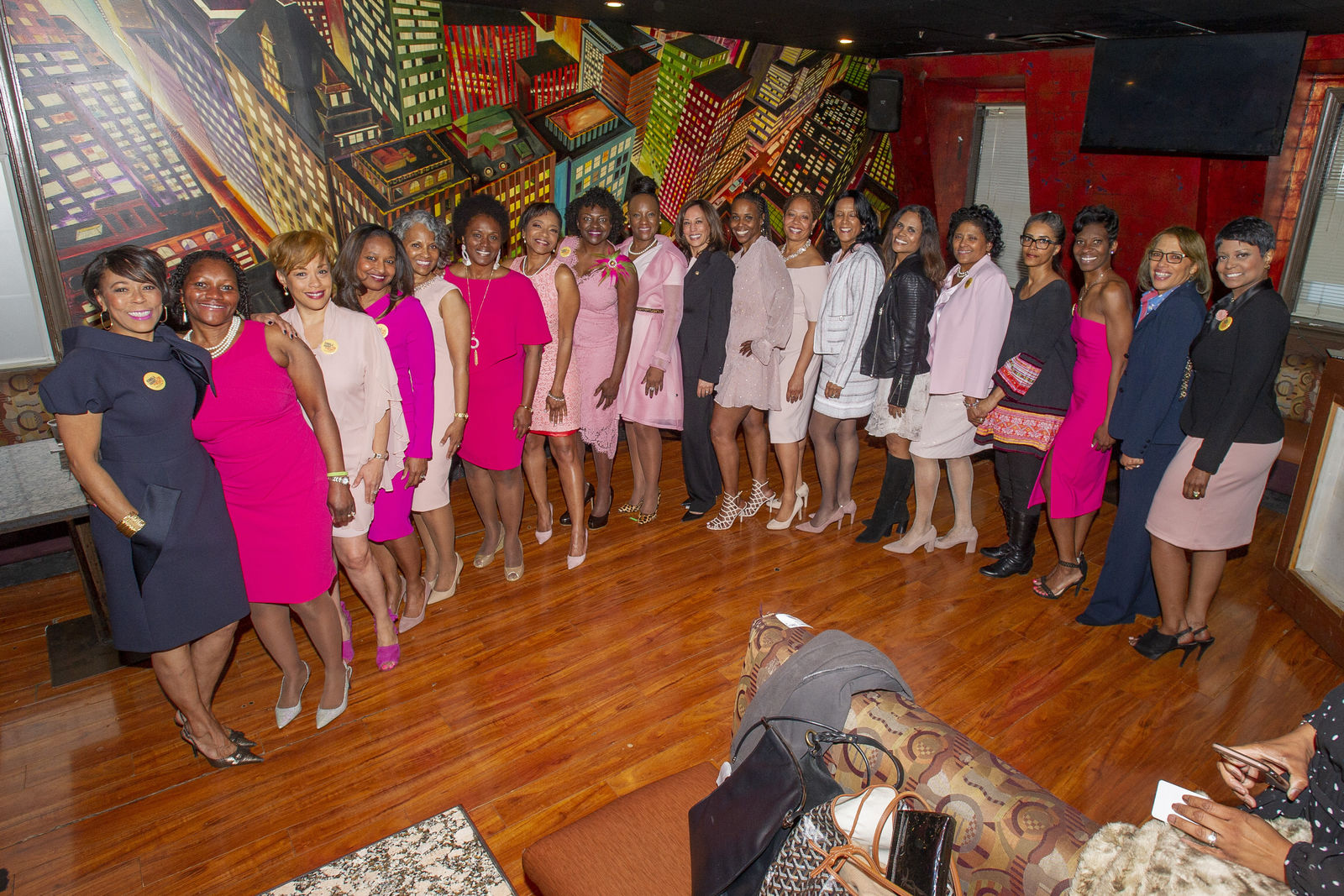 In 1986, Kamala Harris and 37 other women were initiated into Alpha Kappa Alpha at Howard University.  ABC7 spoke to her line sisters about Harris's history-making moment on Wednesday. Courtesy: Alpha Kappa Alpha