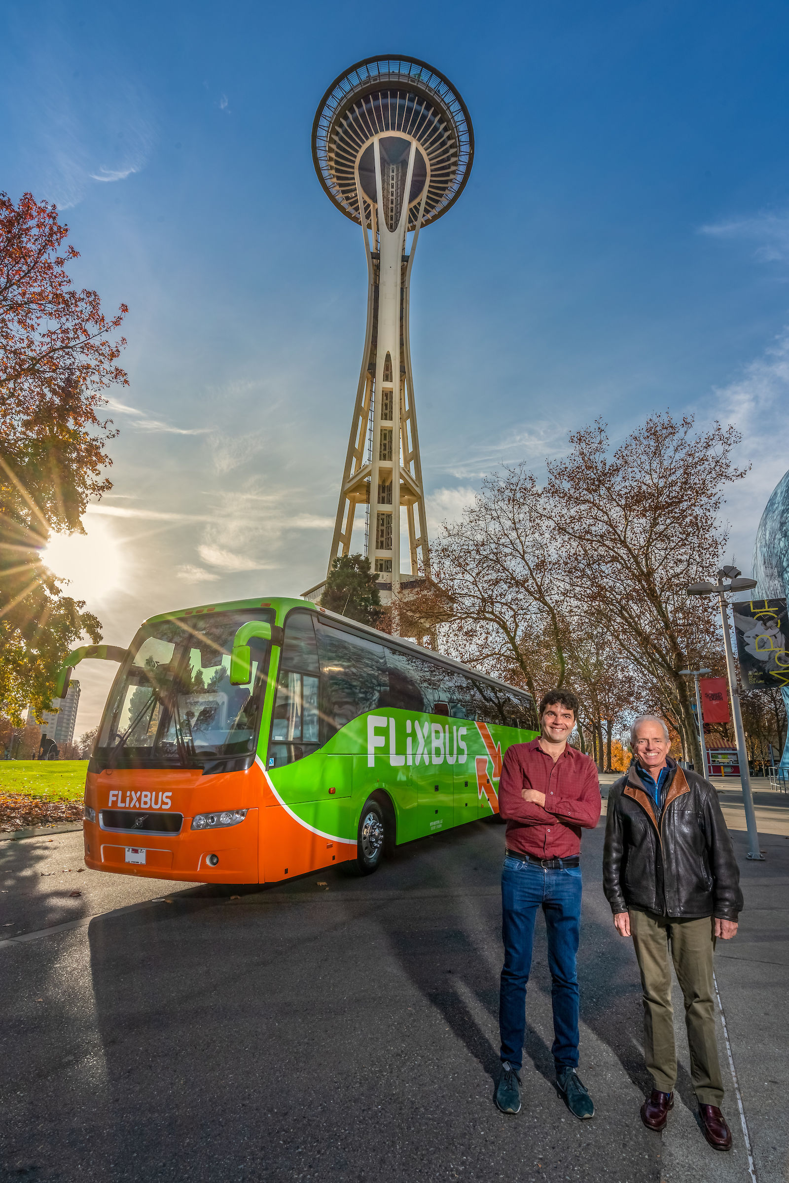 FlixBus plans to launch service on Thursday, with fares starting at $9.99. The company will offer four trips in each direction daily between Eugene and Portland, with stops on both the University of Oregon and Oregon State University campuses. (FlixBus)