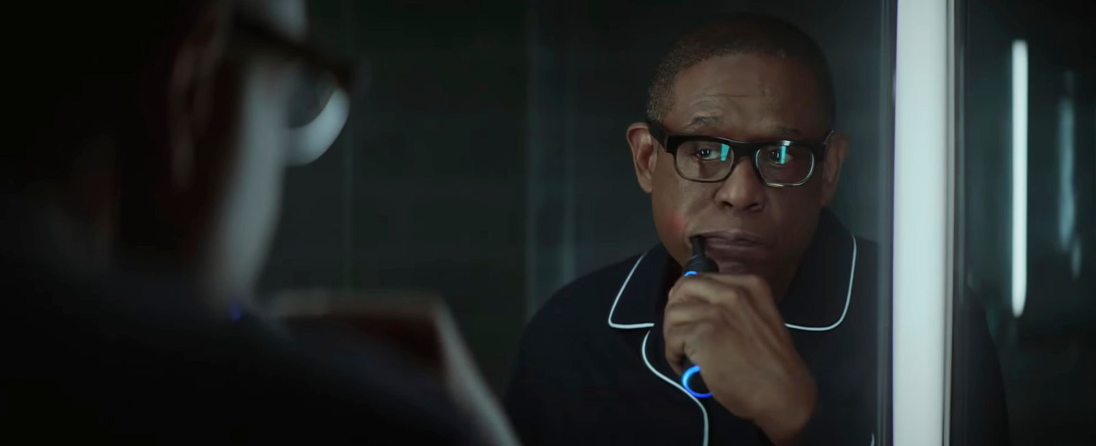 This undated image made from a video provided by Amazon shows a scene from the company's 2019 Super Bowl NFL football spot featuring Forest Whitaker.  (Amazon via AP)