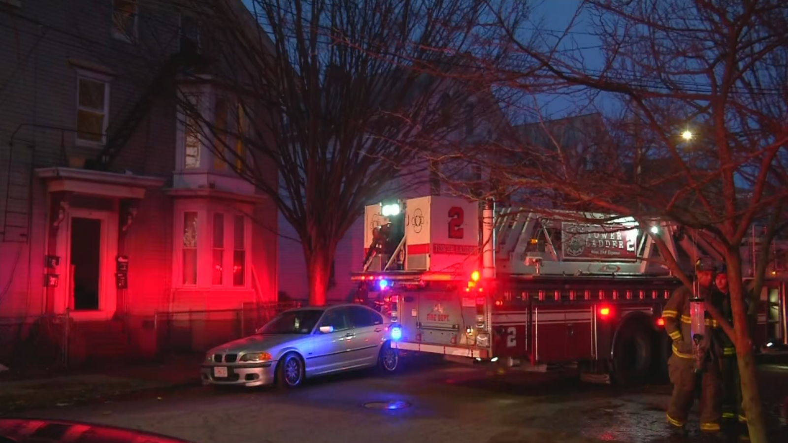 Investigators said a 7-year-old boy dropped a match and set a couch on fire in an apartment house on Hudson Street, Thursday, Feb. 21, 2020. (WJAR)