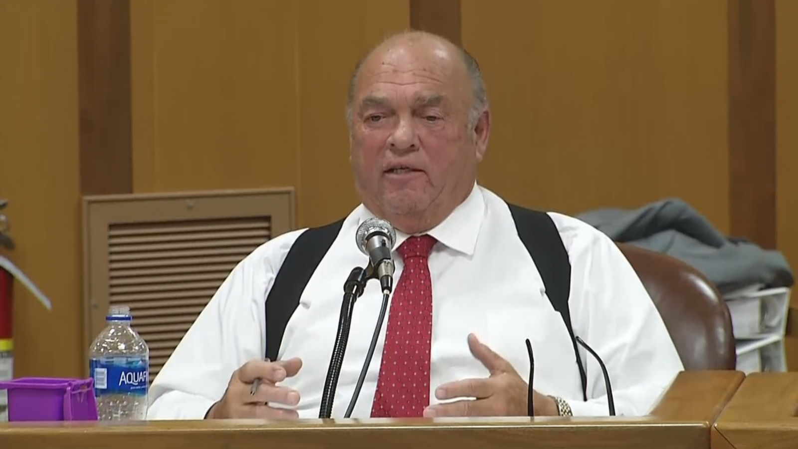 """Talk about corruption,"" said City Counclior Leo Pelletier Tuesday, Sept. 10, 2019 during the meeting. ""This is the worst that I've ever seen you talk about Buddy Cianci, that guy was a priest next to this guy."" (WJAR)"
