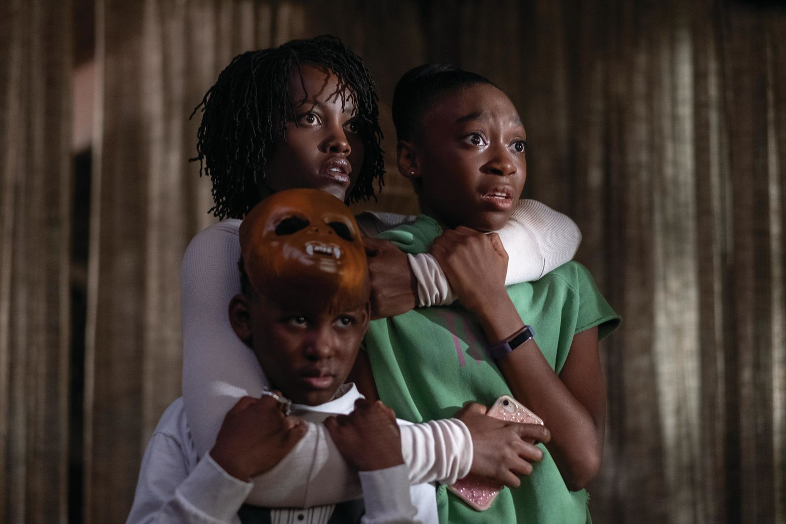 "(clockwise from left) Jason Wilson (Evan Alex), Adelaide Wilson (Lupita Nyong'o) and Zora Wilson (Shahadi Wright Joseph) in ""Us,"" written, produced and directed by Jordan Peele.{ }(Photo: Universal Pictures)"