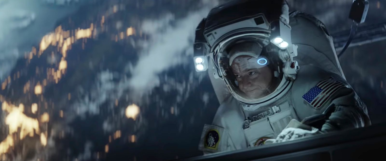 This undated image made from a video provided by Amazon shows a scene from the company's 2019 Super Bowl NFL football spot featuring Scott Kelly. (Amazon via AP)
